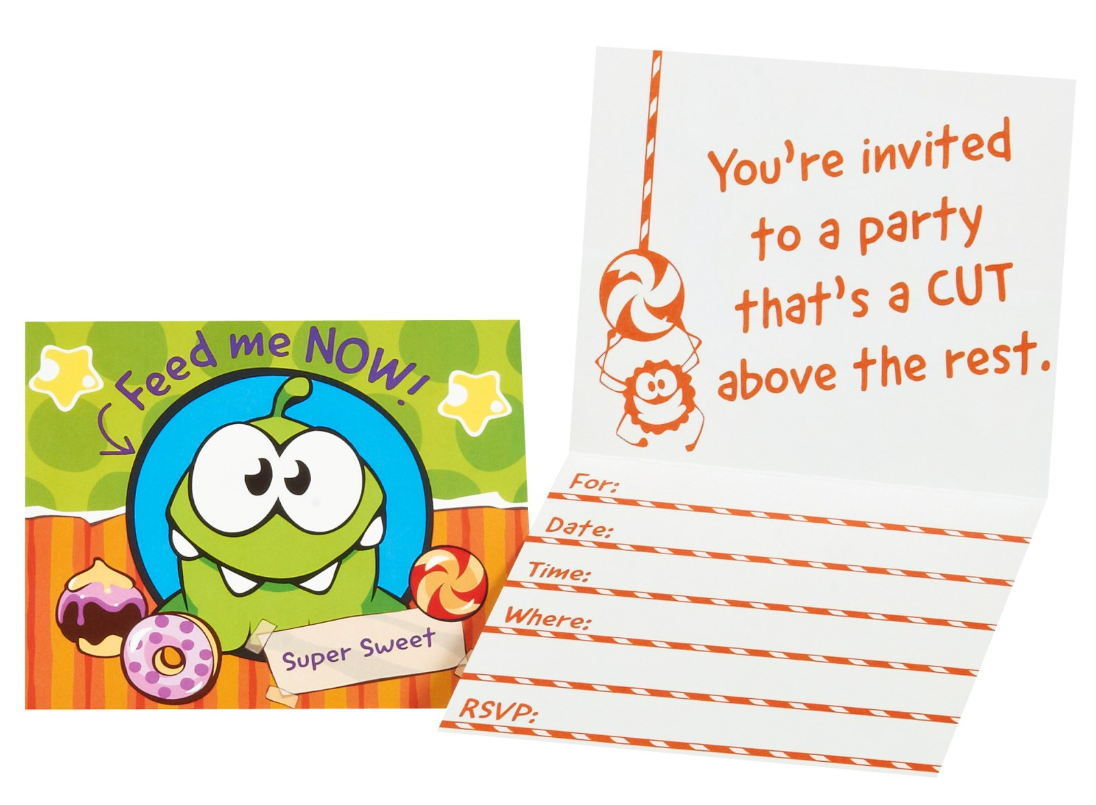 Cut the Rope Invitations
