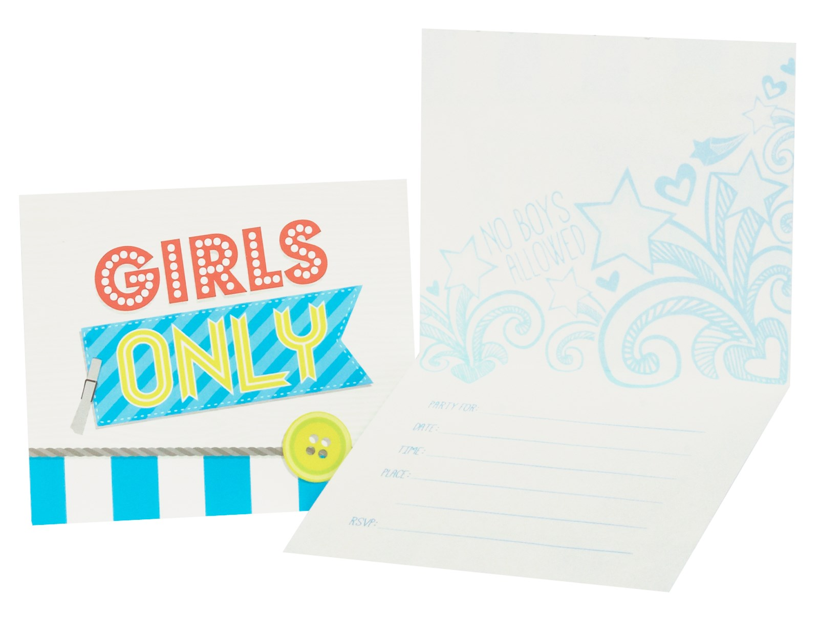 Image of Girls Only Party Invitations