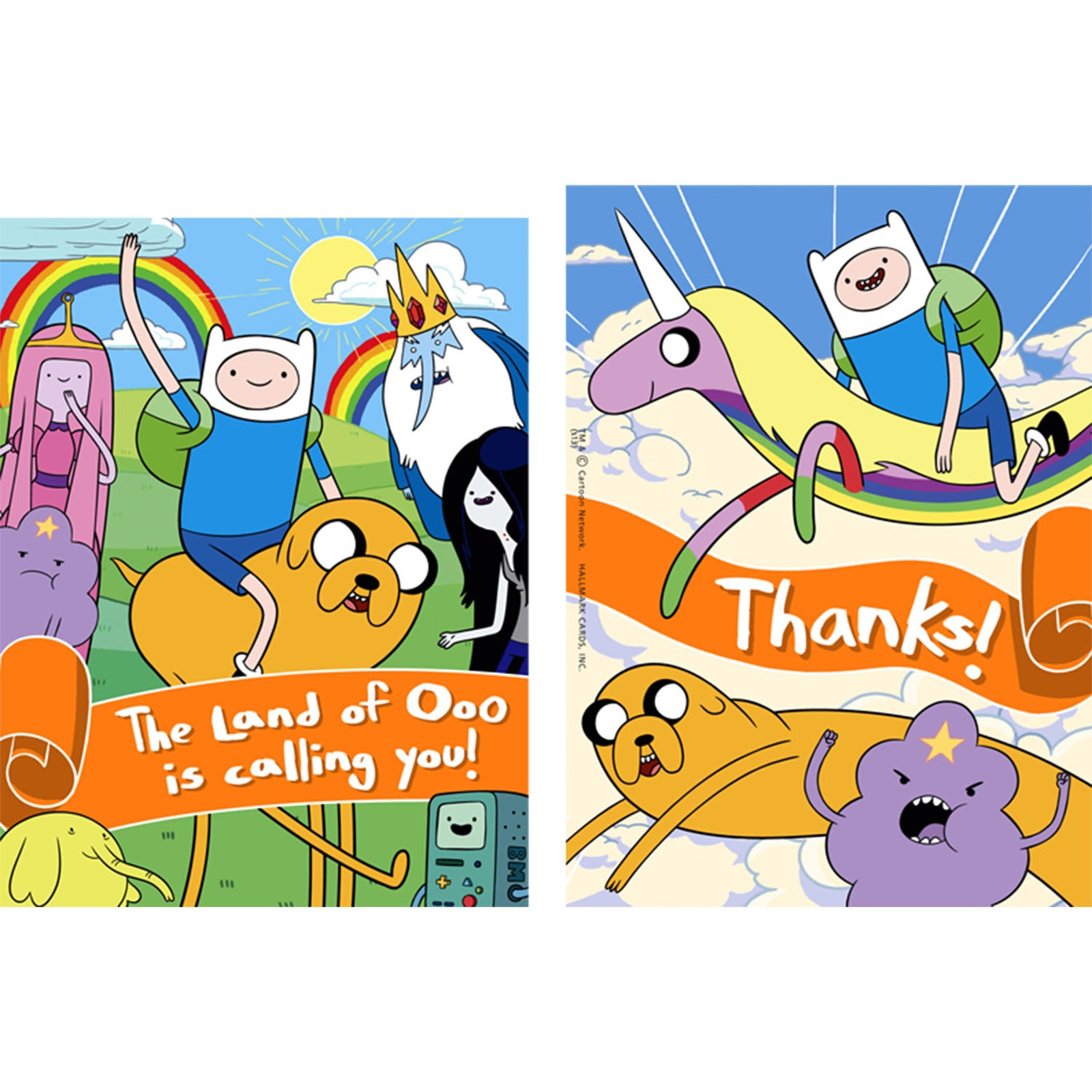 Image of Adventure Time Invitations Thank-You Postcards