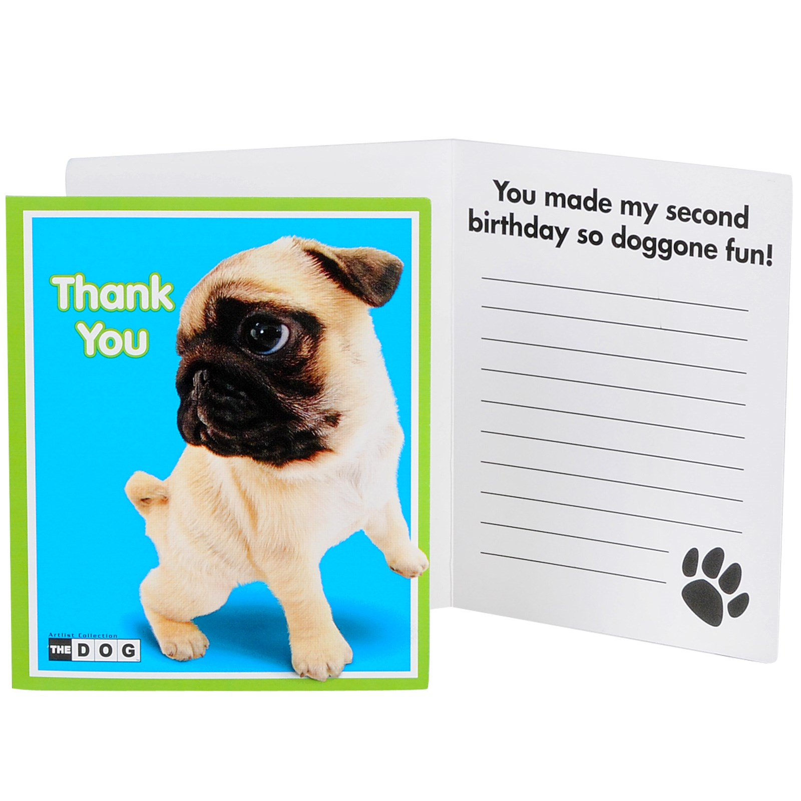 THE DOG 2nd Birthday Thank You Notes