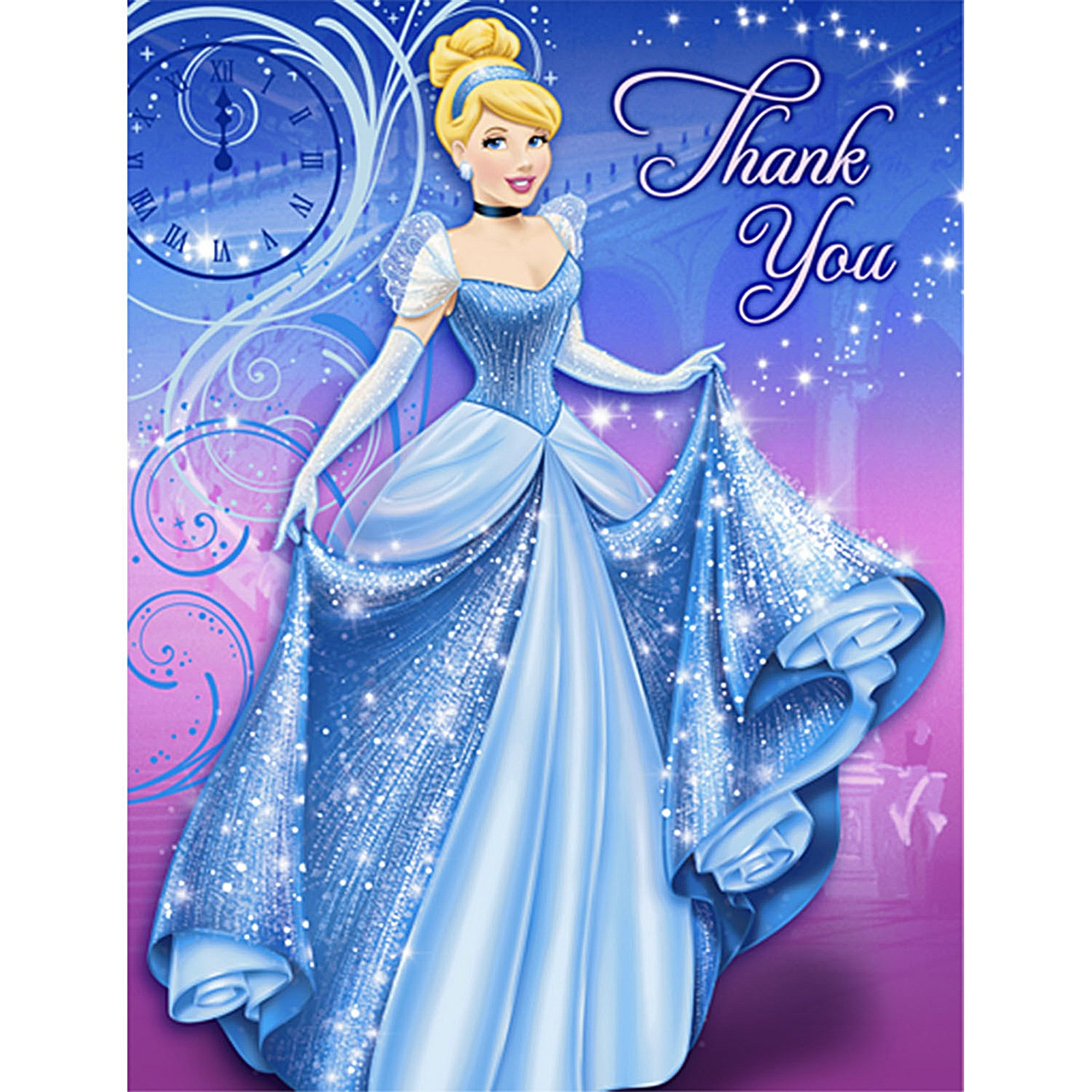 Disney Cinderella Sparkle Thank-You Notes