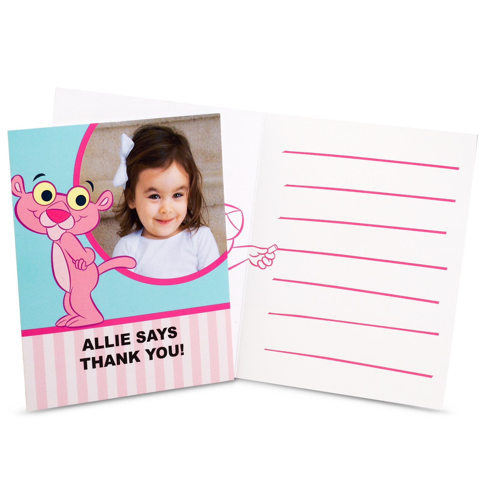 Baby Pink Panther Personalized Thank-You Notes