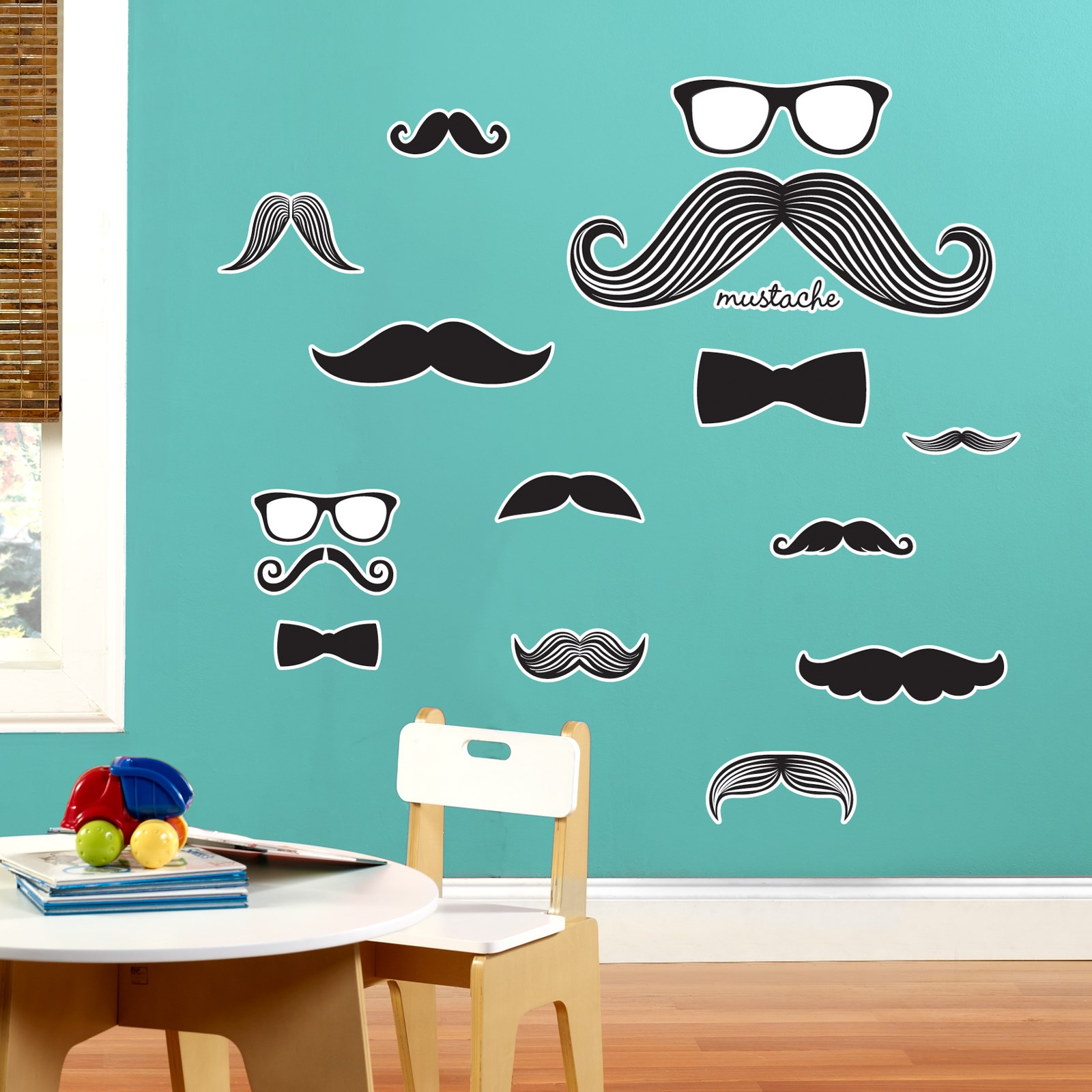 Image of Mustache Giant Wall Decal