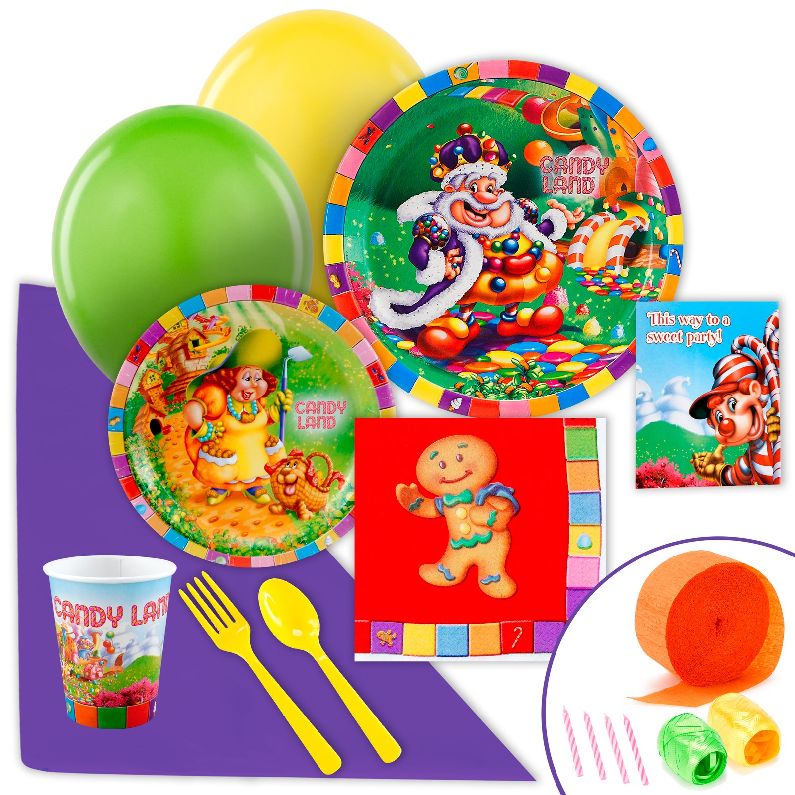 Image of Candy Land Just Because Party Pack for 8