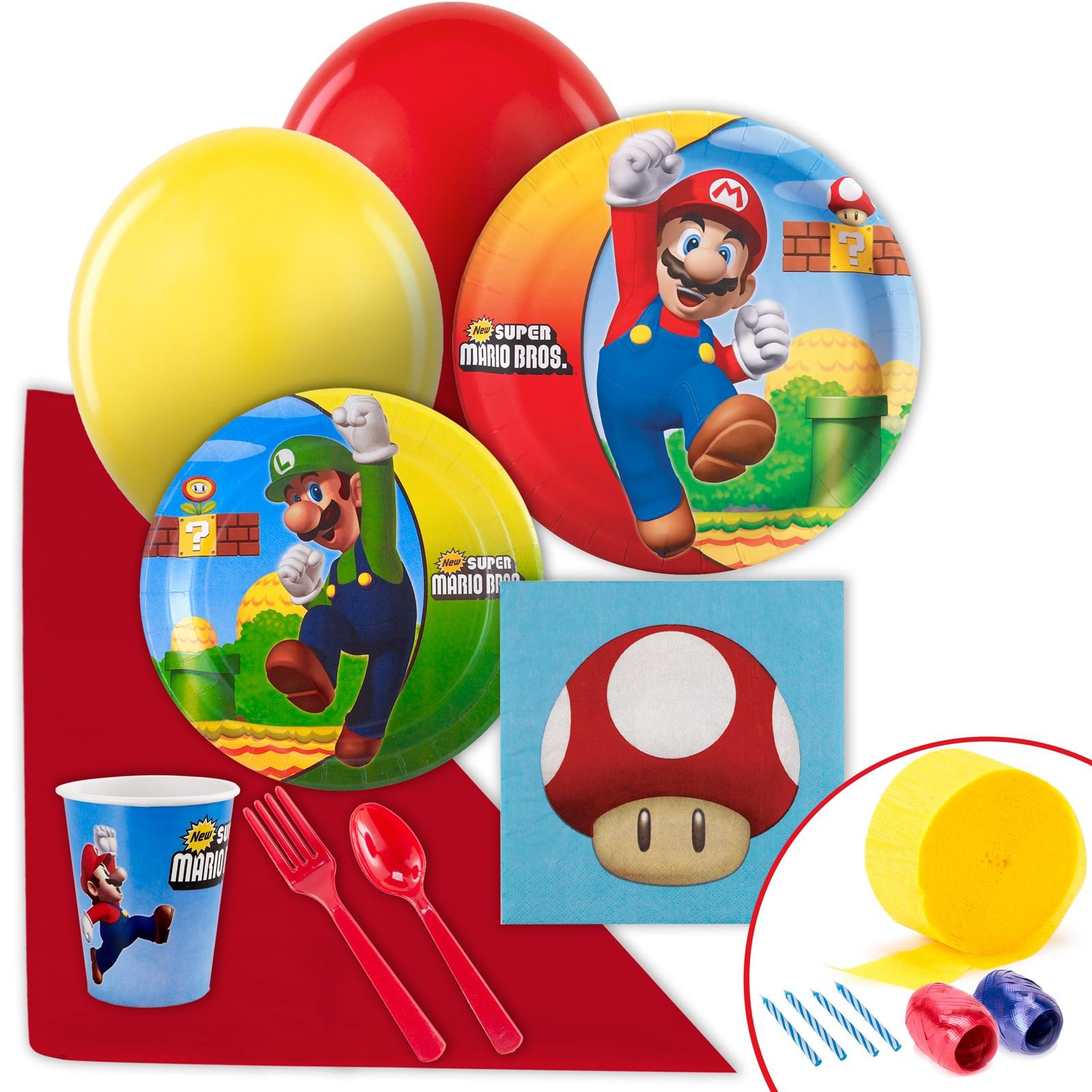 Super Mario Bros. Value Party Pack kids birthday partyware