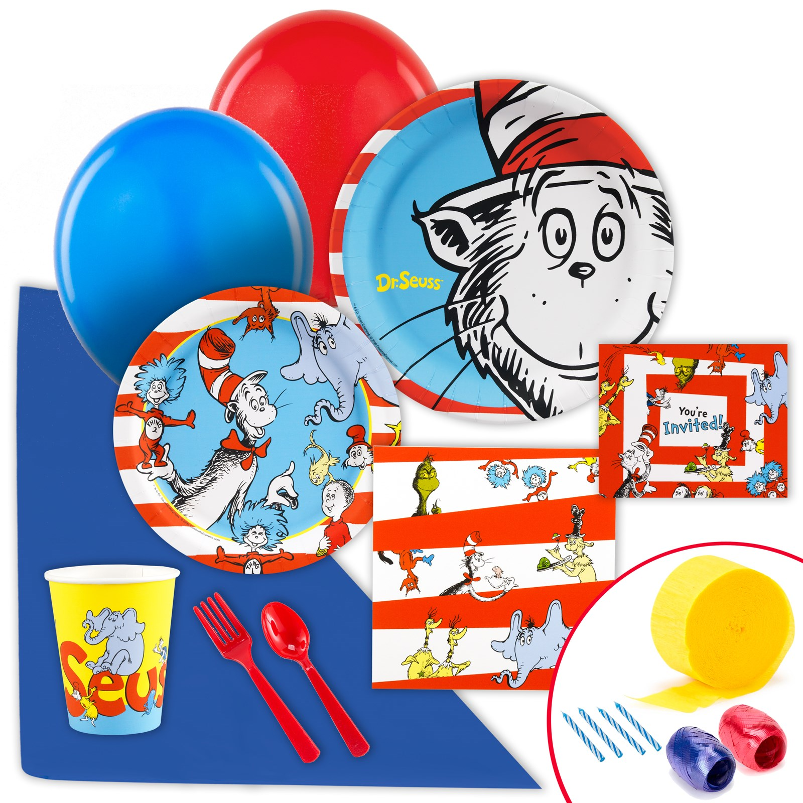 Image of Dr. Seuss Just Because Party Pack for 8