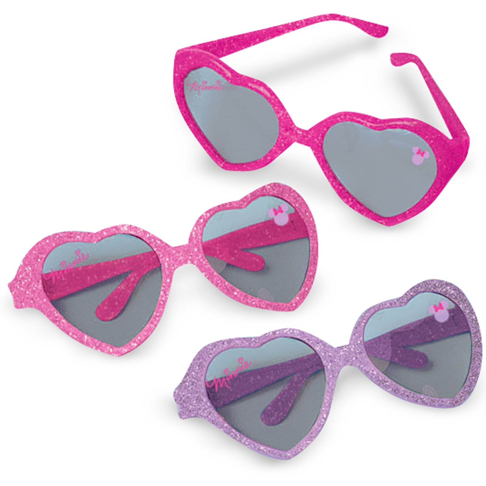 Disney Minnie Mouse Glitter Heart Sunglasses