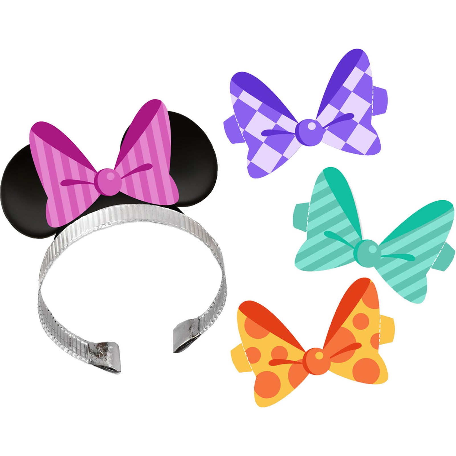 Disney Minnie Dream Party Ears with Interchangeable Bows