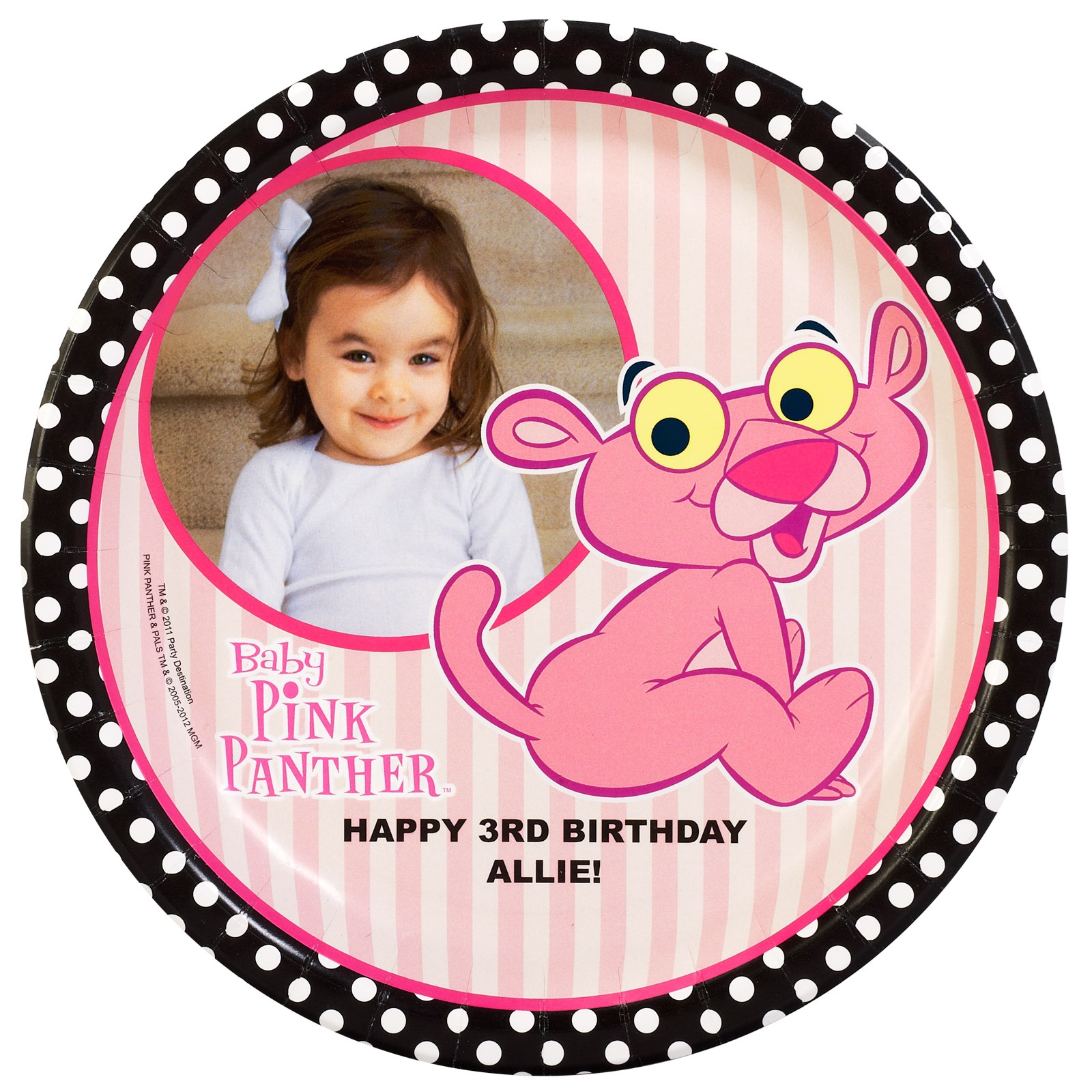 Baby Pink Panther Personalized Dinner Plates