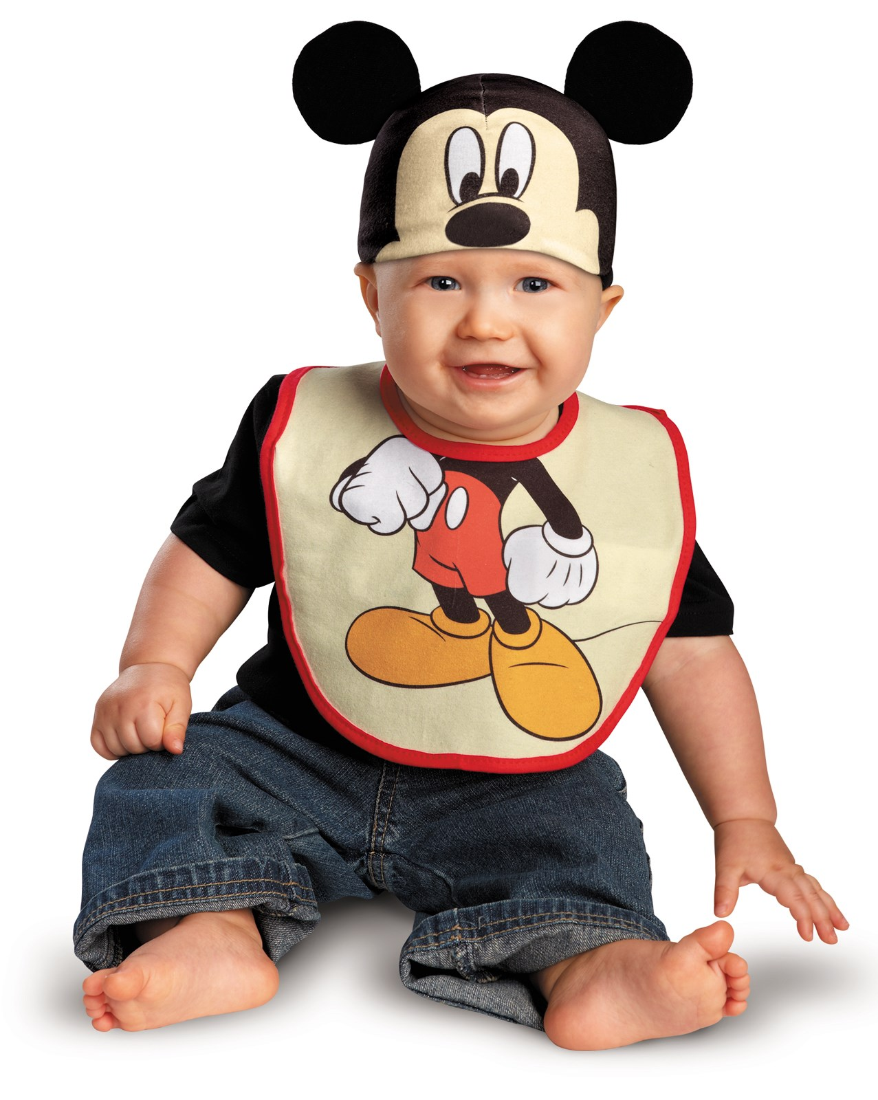 Disney Mickey Mouse Bib and Hat