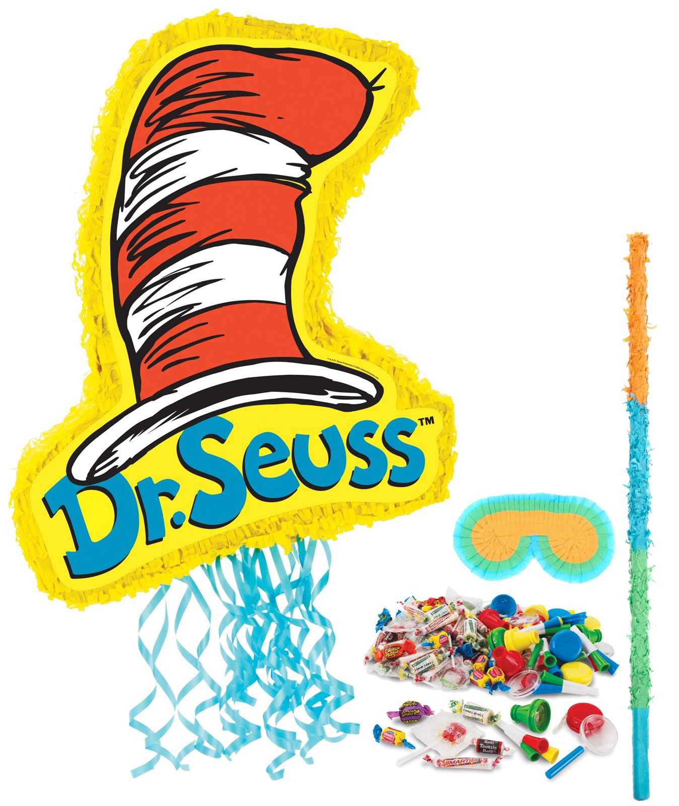 Image of Dr. Seuss Cat in the Hat Pinata Kit