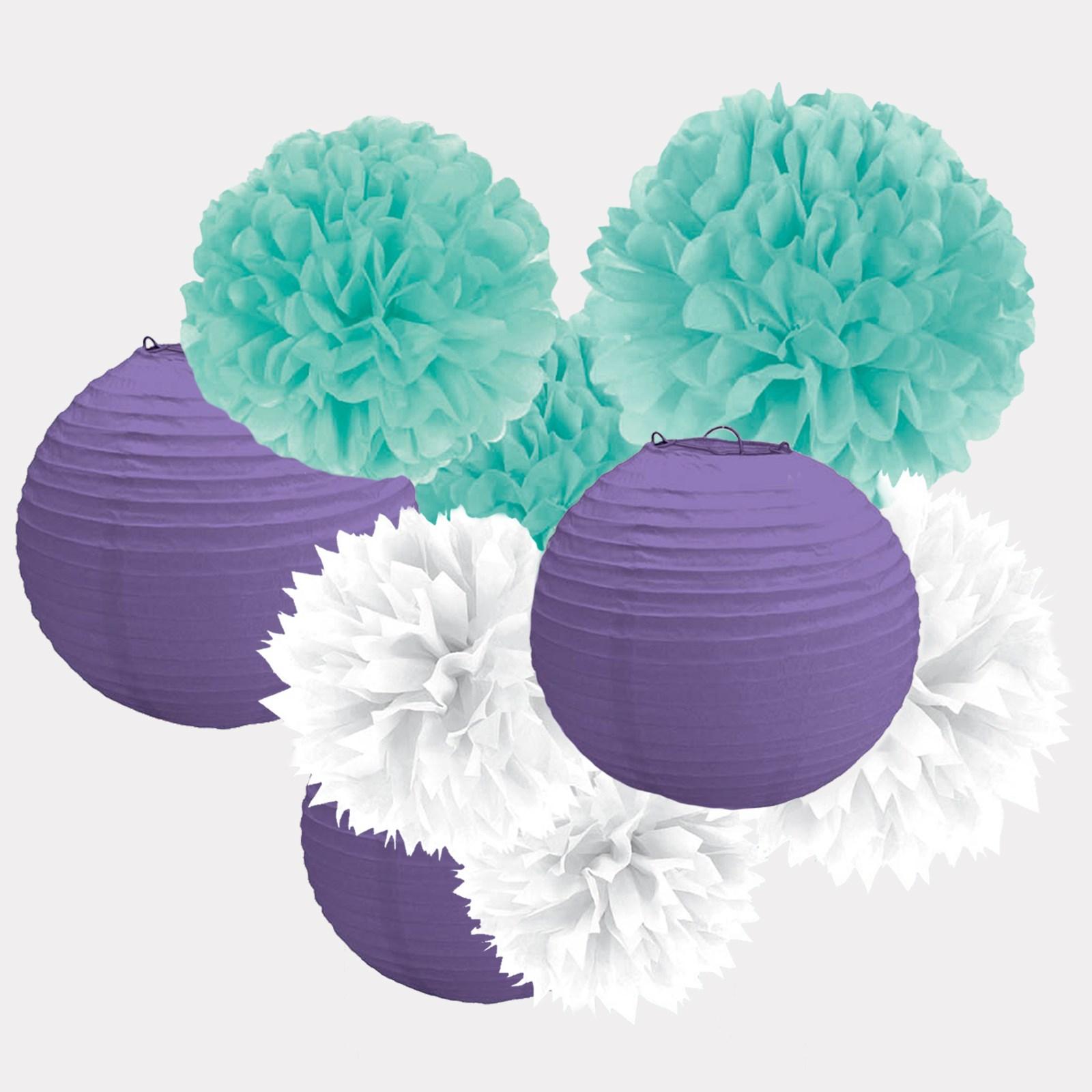 Image of Hanging Decoration Kit - Blue  White Purple
