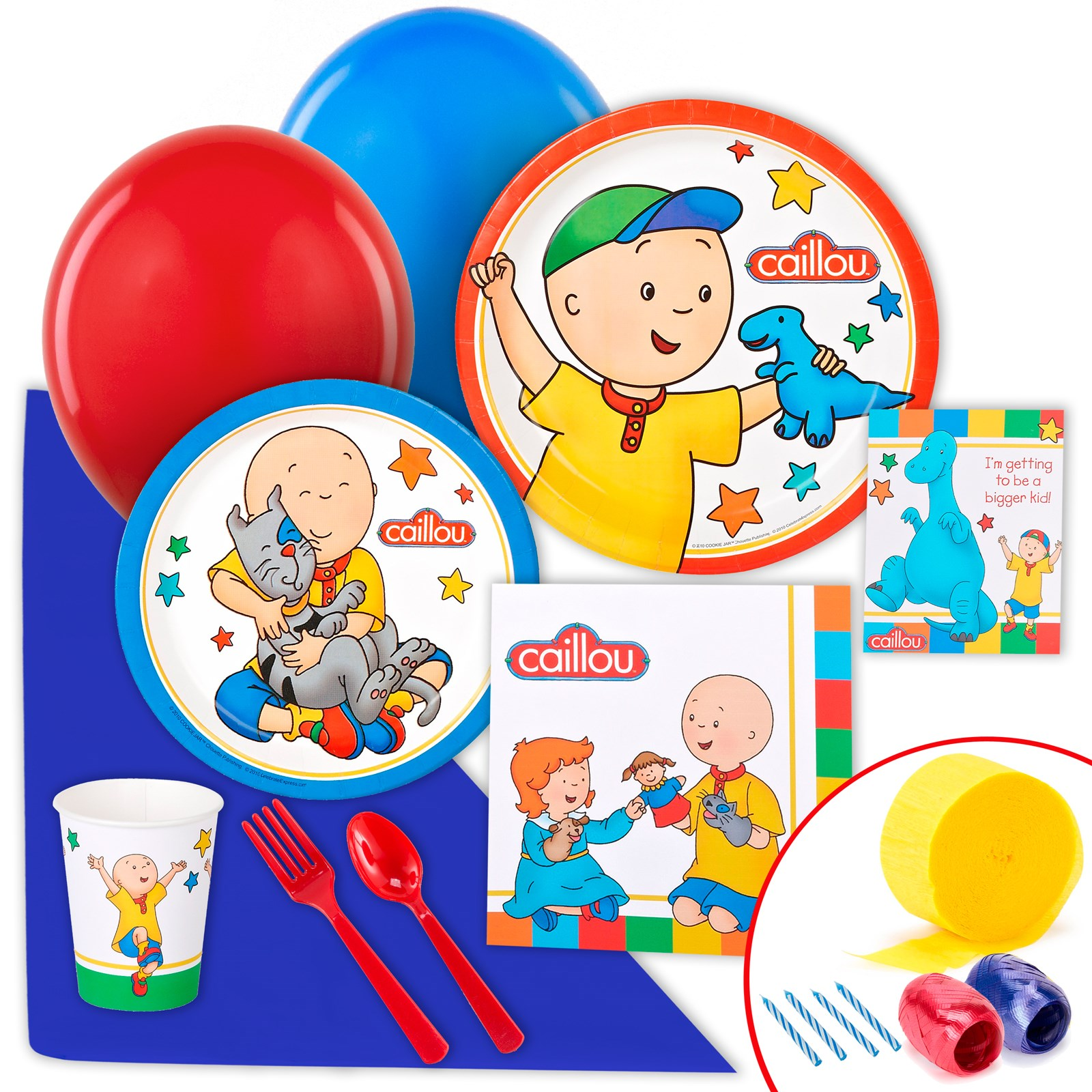 Image of Caillou Just Because Party Pack for 8