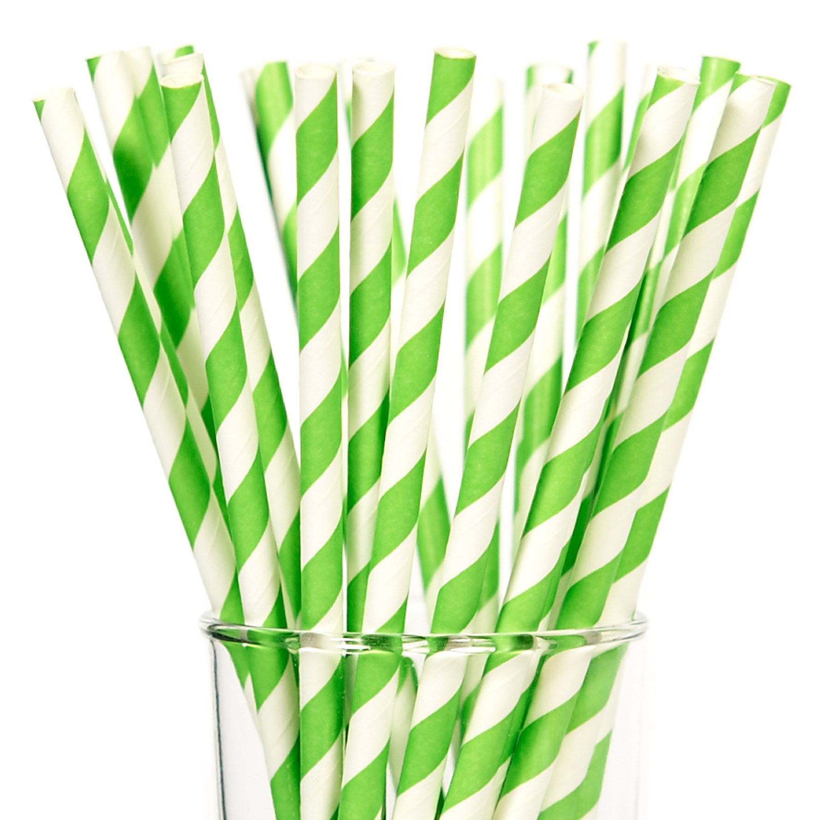 Image of Lime Green Paper Straws (25)