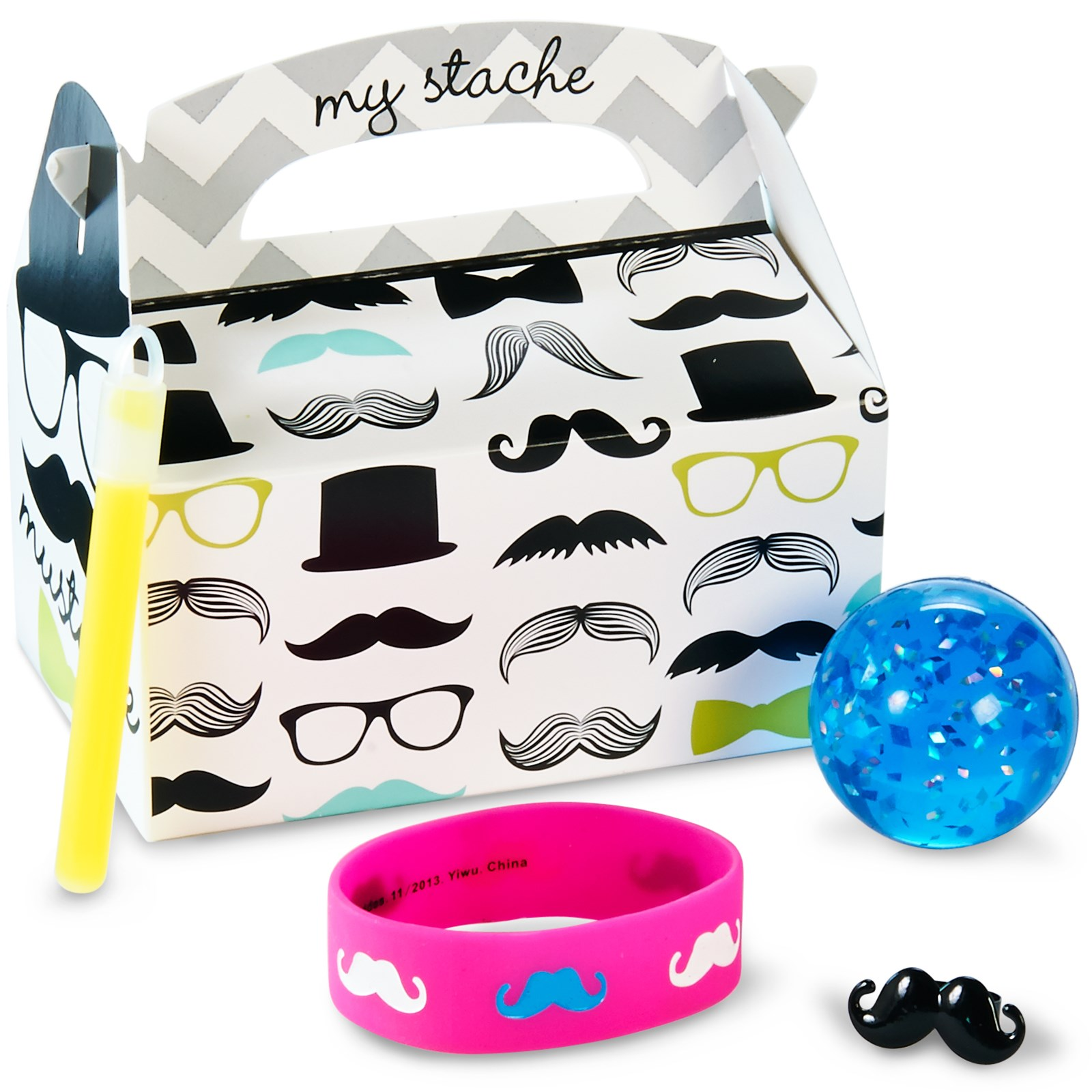 Mustache Man Filled Party Favor Box