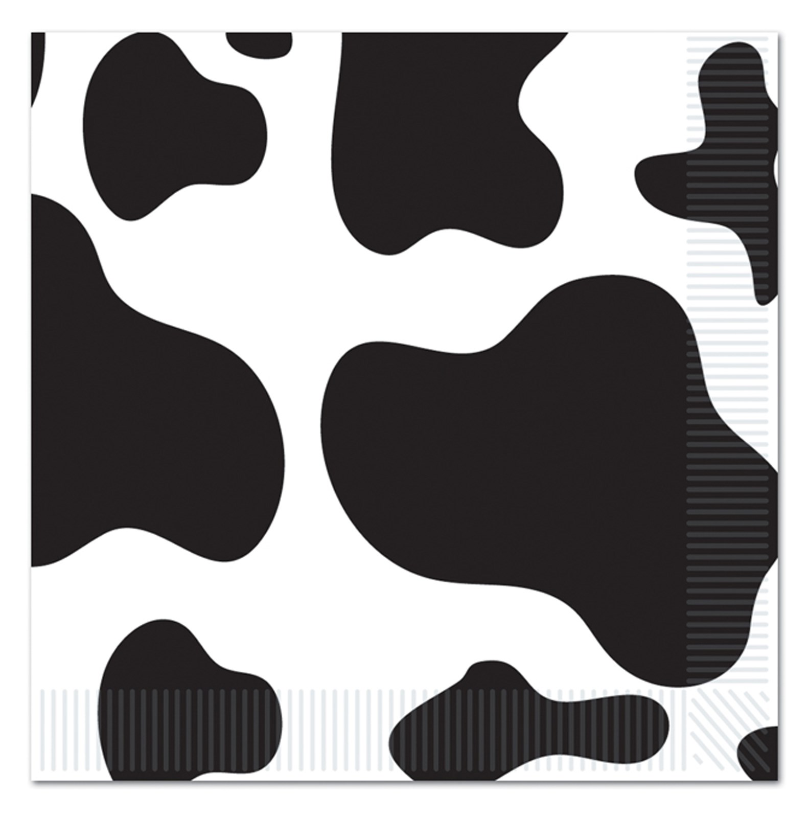 Image of Cow Print Lunch Napkins (16)