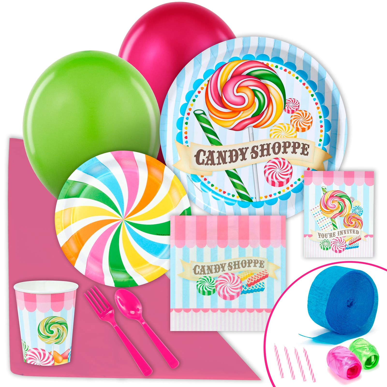 Image of Candy Shoppe Just Because Party Pack for 8