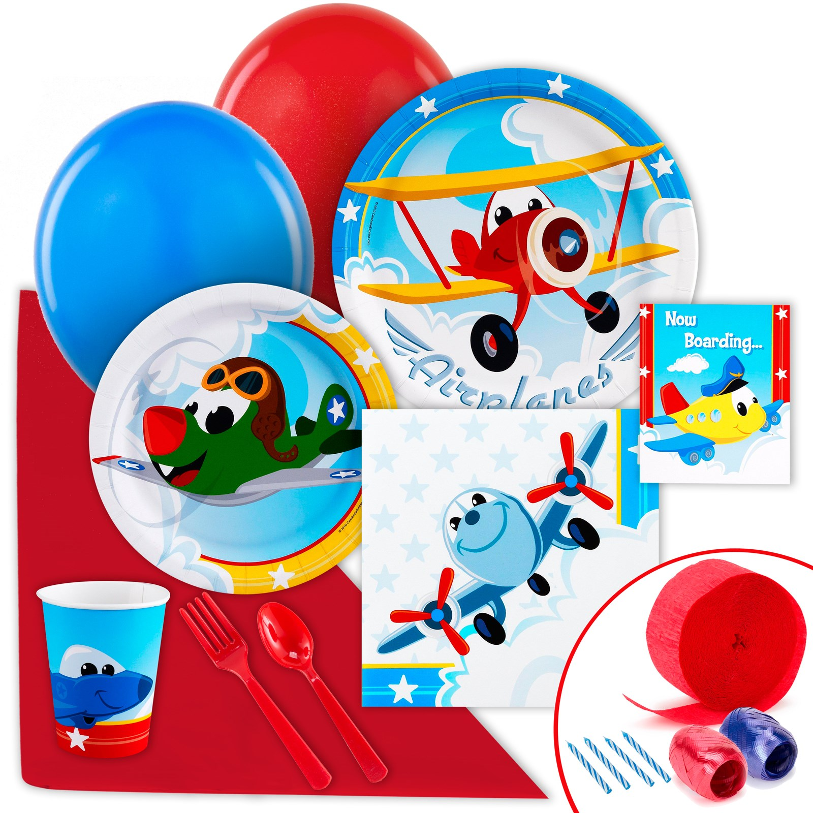 Image of Airplane Adventure Just Because Party Pack for 8