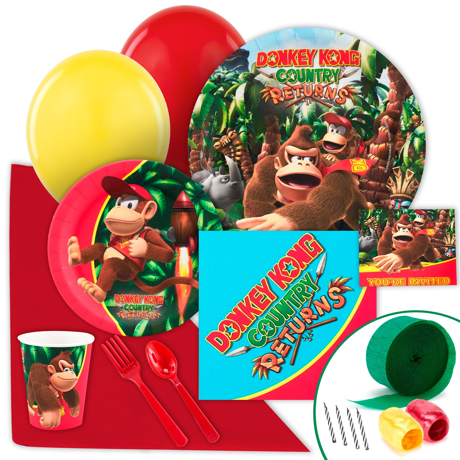 Image of Donkey Kong Just Because Party Pack for 8