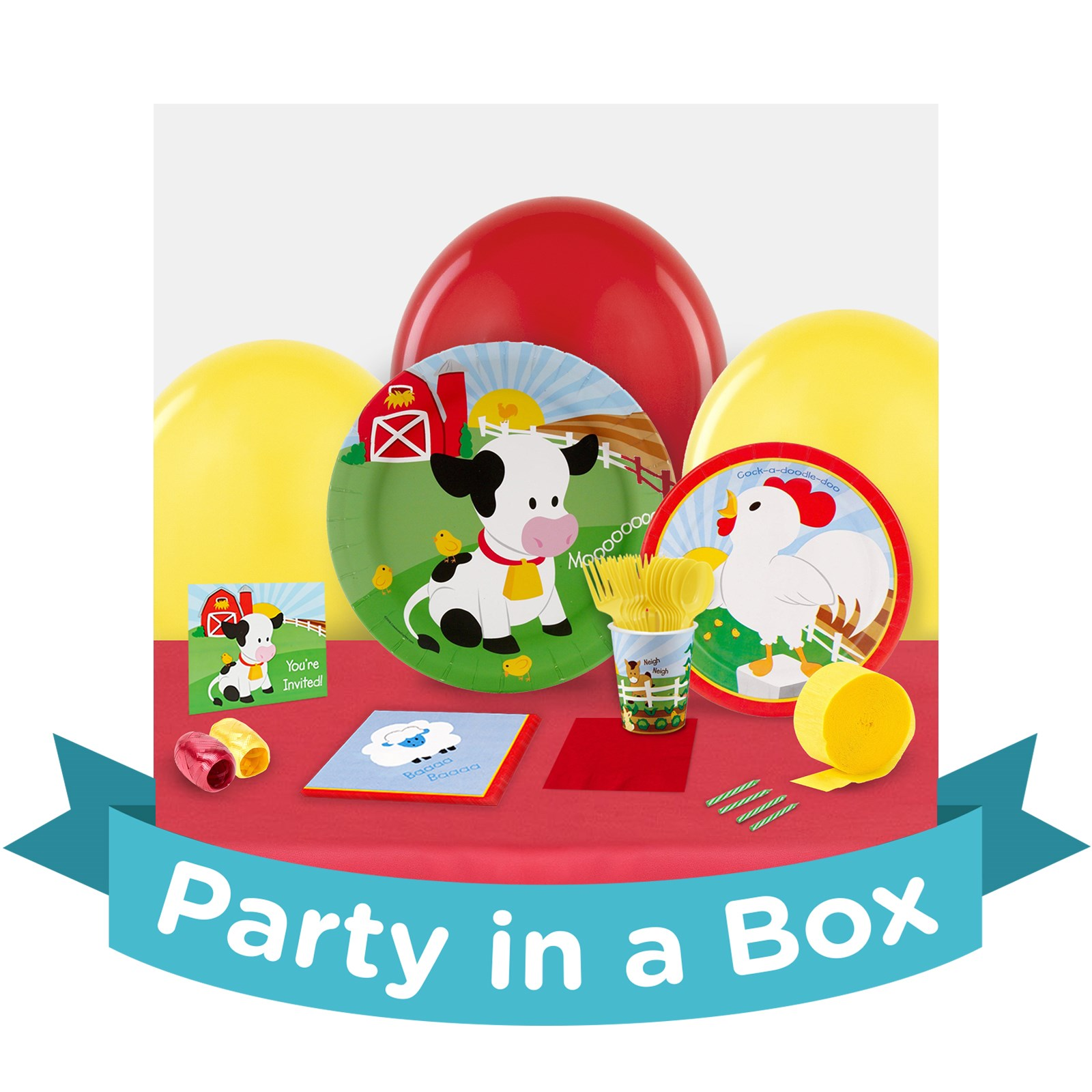 Image of Barnyard Party in a Box - Deluxe - 8 Guests
