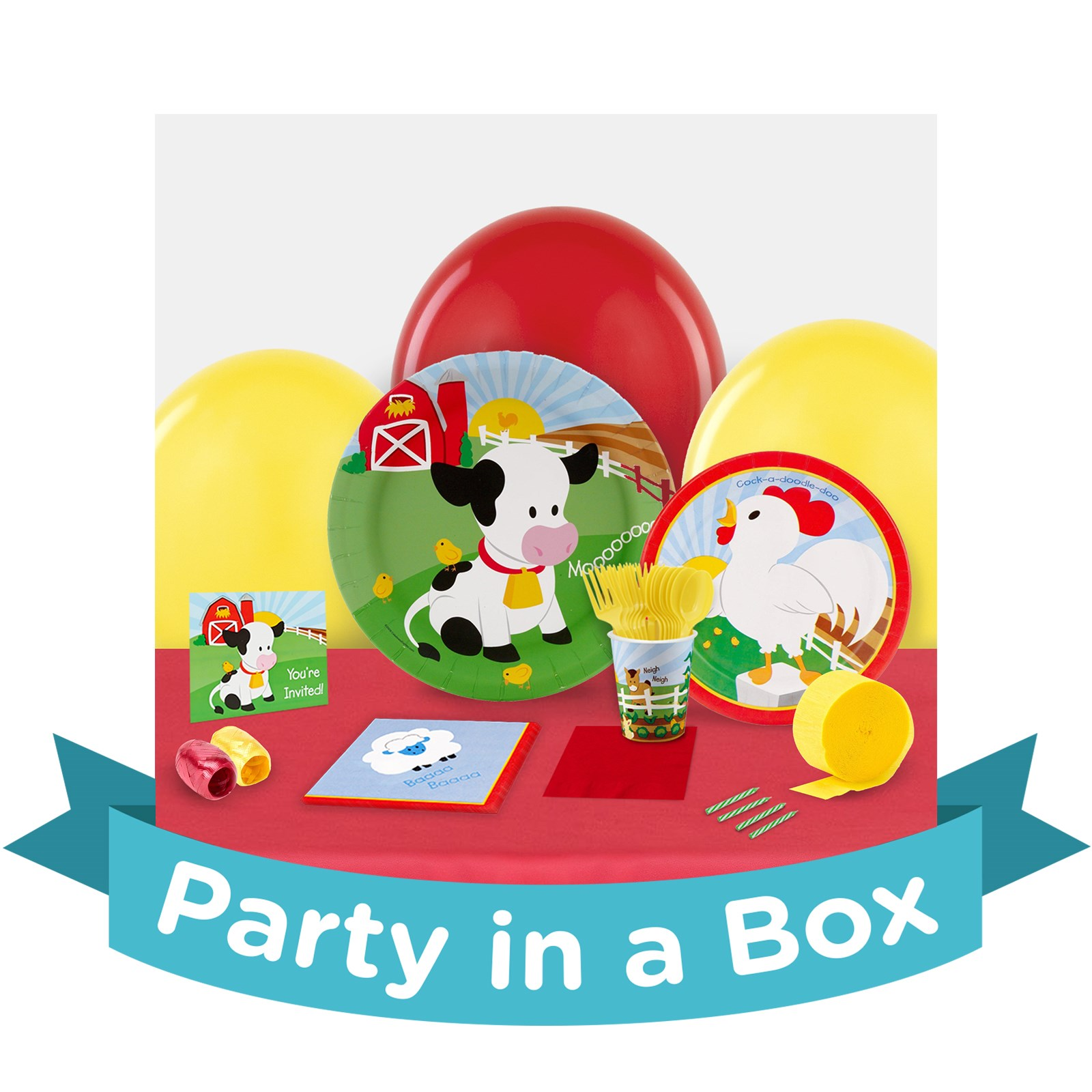 Image of Barnyard 1st Party in a Box - Basic - 16 Guests