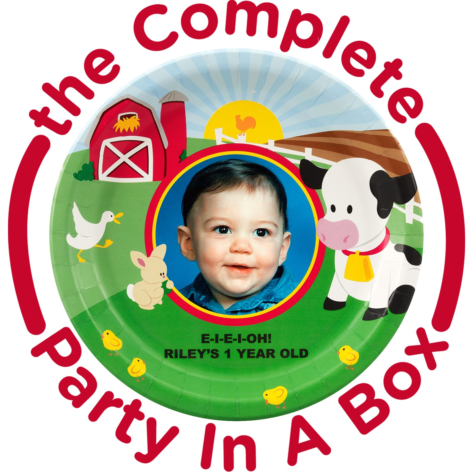 Image of Barnyard Personalized Party in a Box - Deluxe - 16 Guests