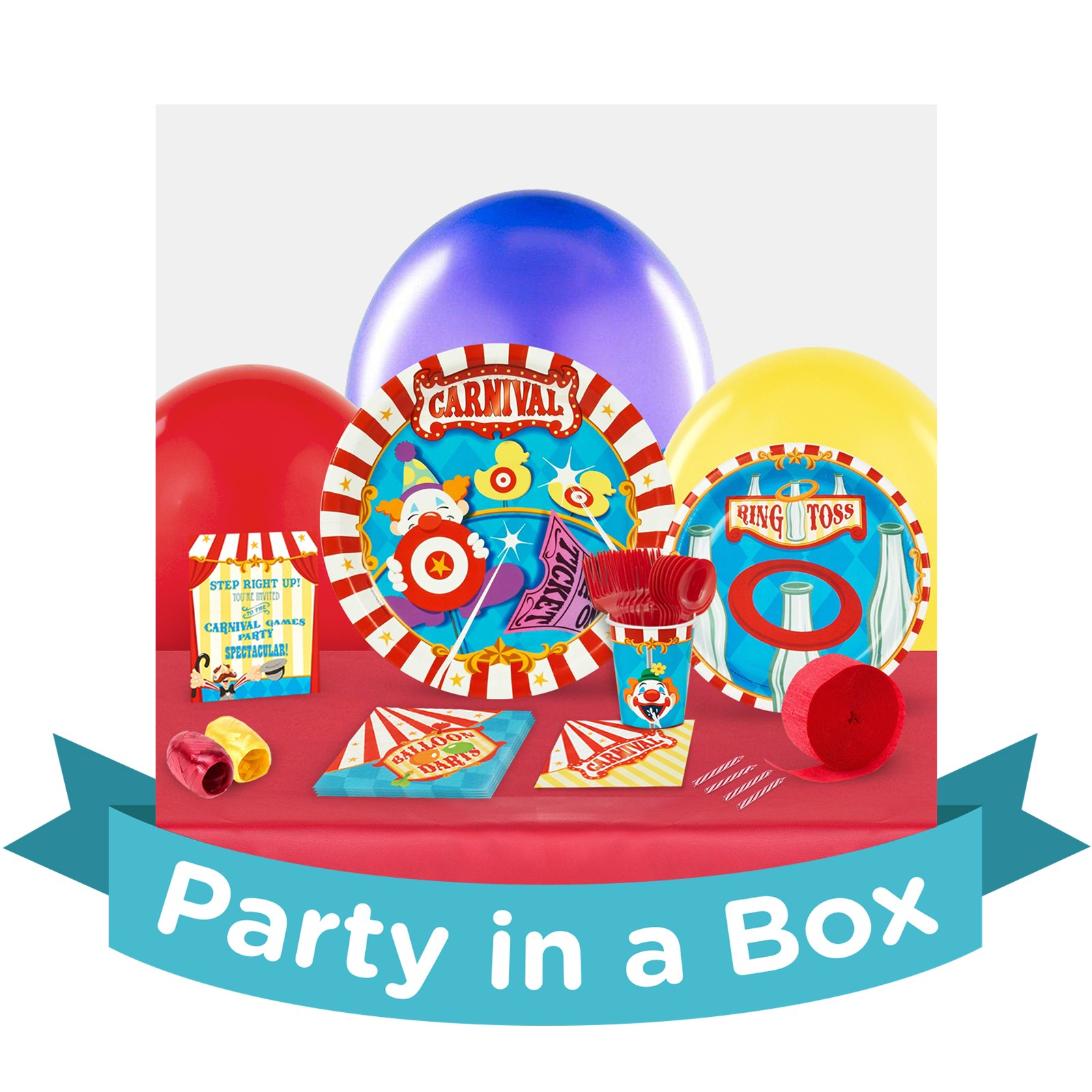 Image of Carnival Games Party in a Box - Basic - 16 Guests