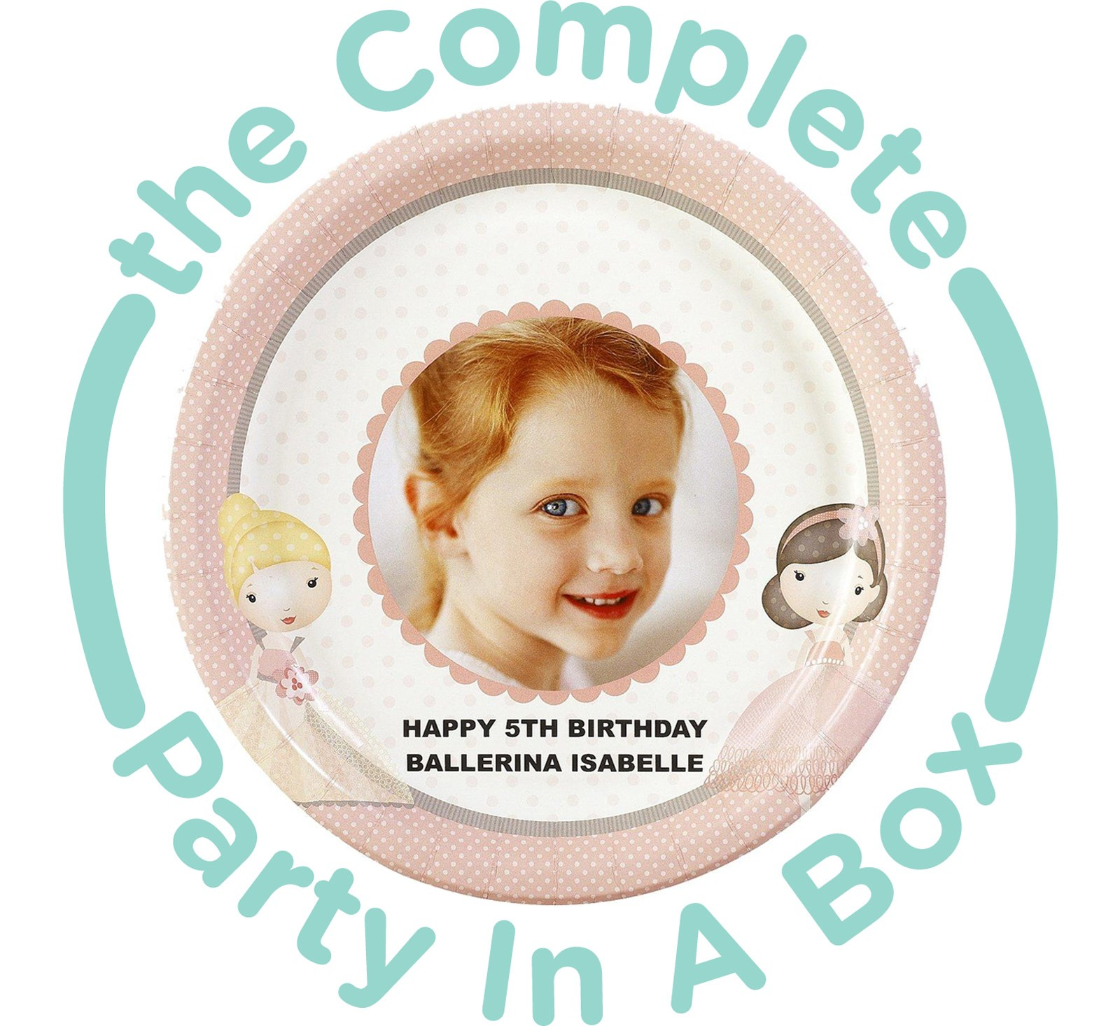 Image of Ballerina Tutu Personalized Party in a Box - Basic - 16 Guests