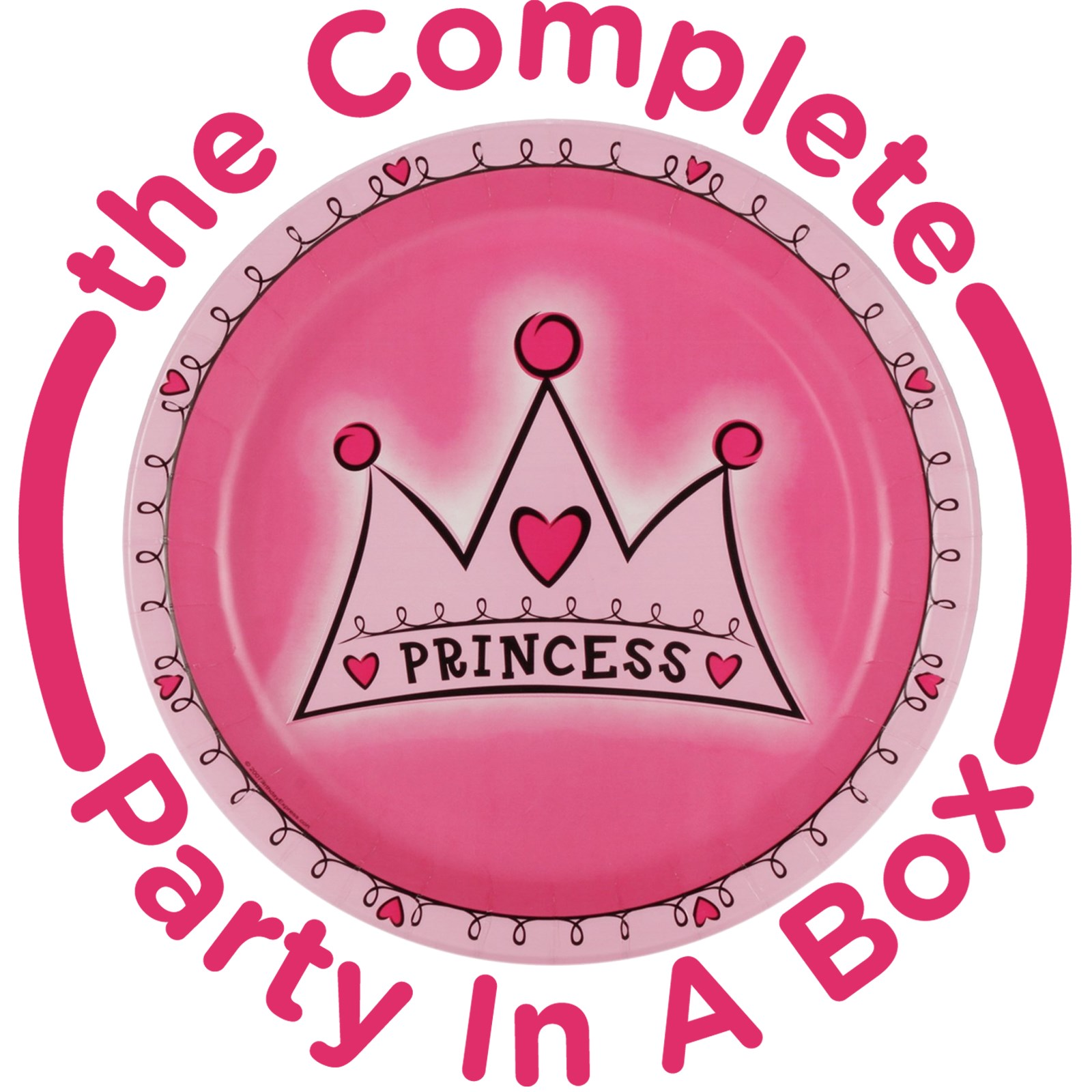 Birthday Princess 1st Birthday Party in a Box - Deluxe - 8 Guests