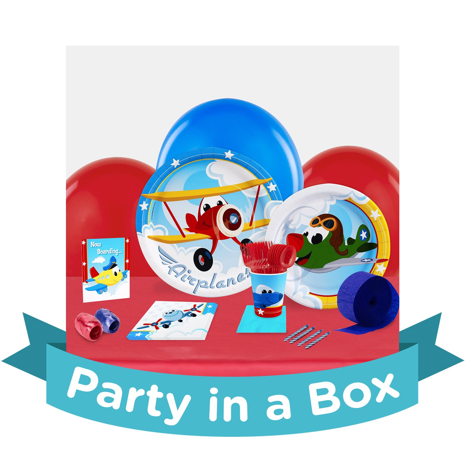 Image of Airplane Adventure Party in a Box - Basics - 16 Guests