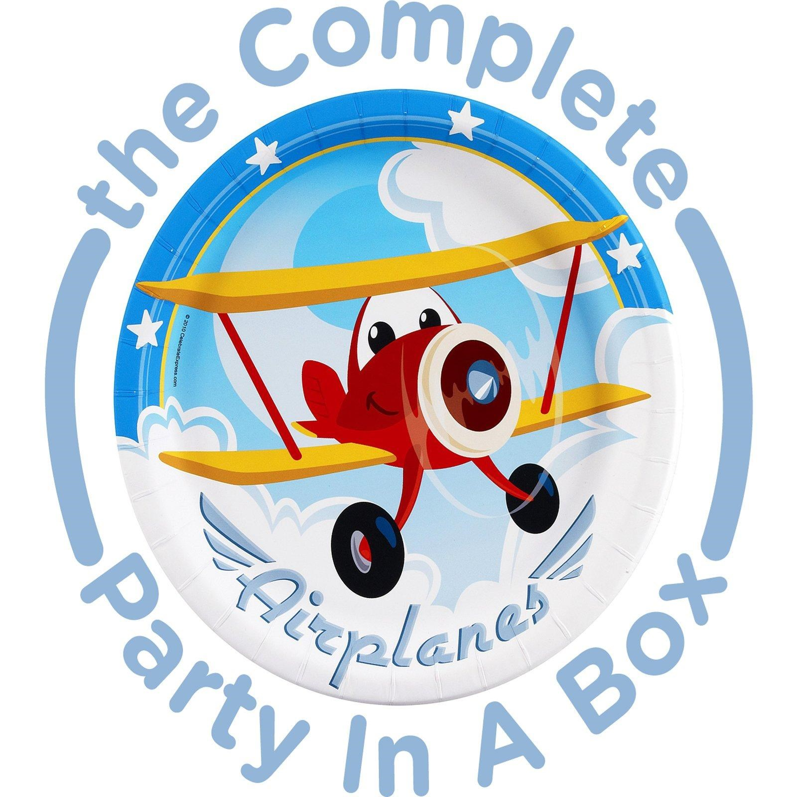 Image of Airplane Adventure 1st Birthday Party in a Box - Basics - 16 Guests
