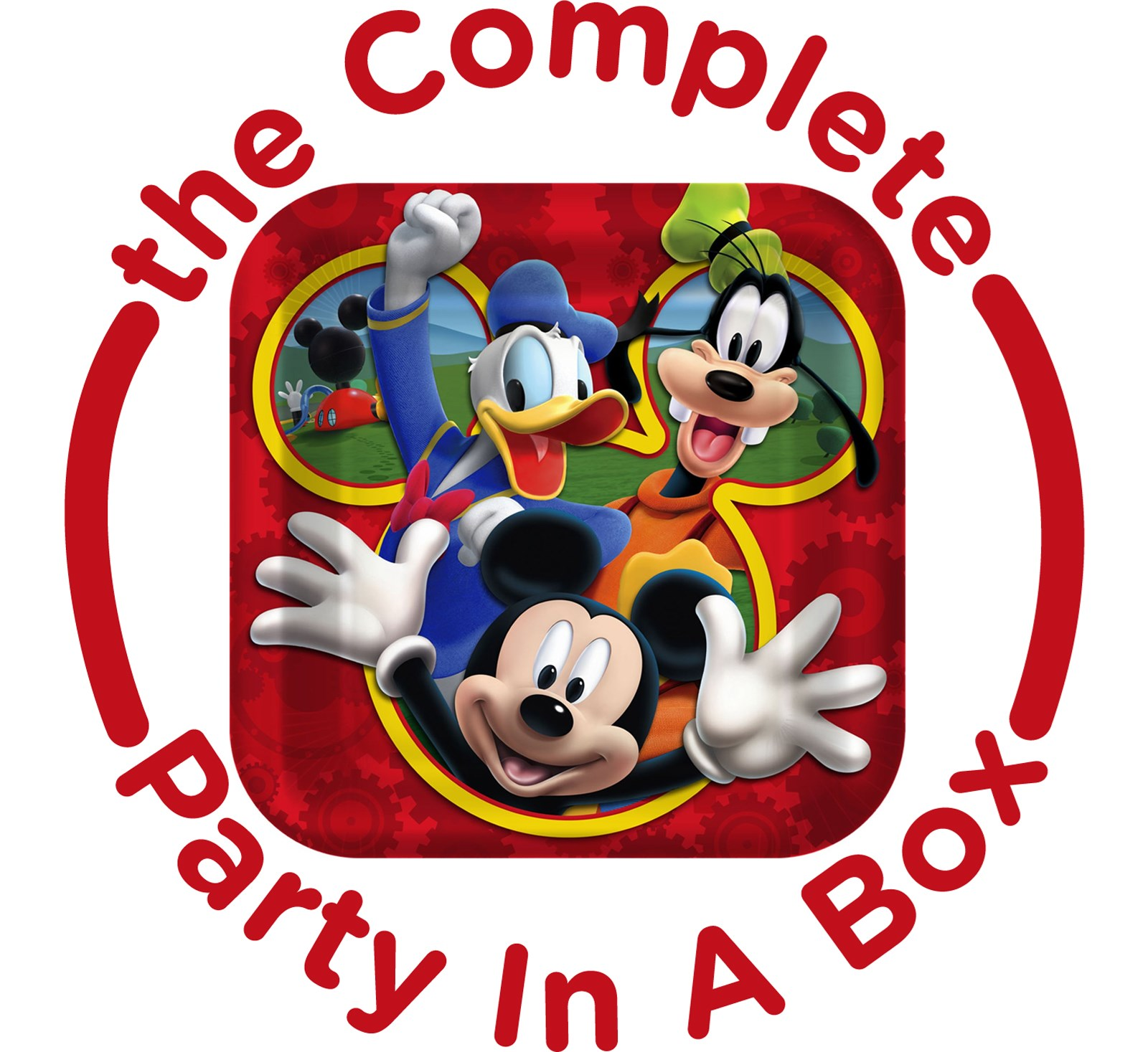 Mickey Mouse Playtime Party in a Box - Deluxe with Favors - 16 Guests