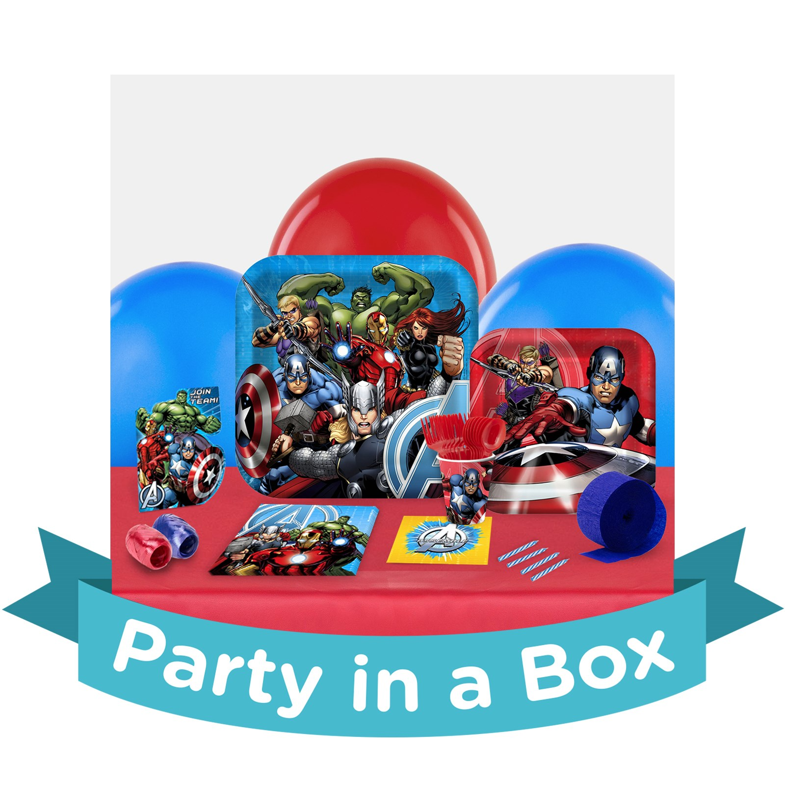 Avengers Assemble Party in a Box - Deluxe with Favors - 8 Guests