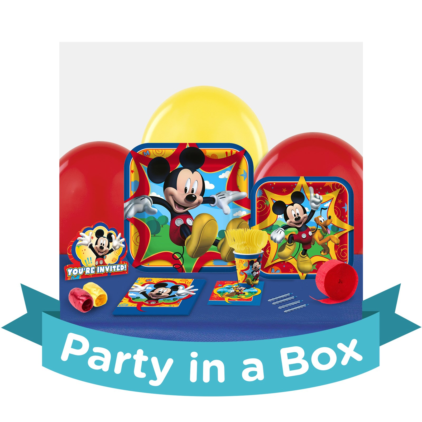 Mickey 1st Birthday Party in a Box - Ultimate - 8 Guests