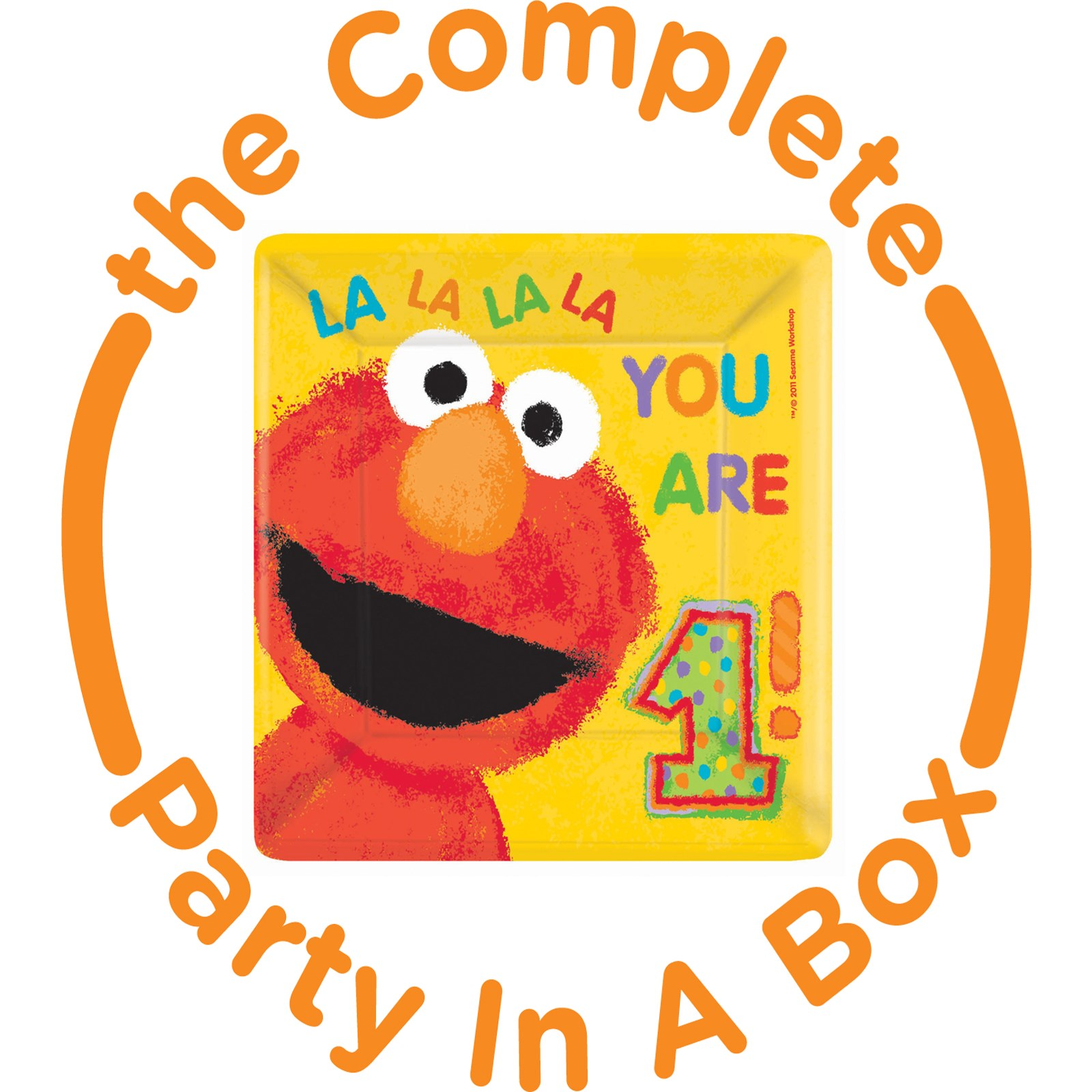 Elmo 1st Birthday Party in a Box - Deluxe with Favors - 16 Guests