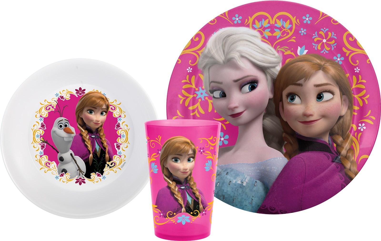 Image of Disney Frozen Plate  Bowl Tumbler Set