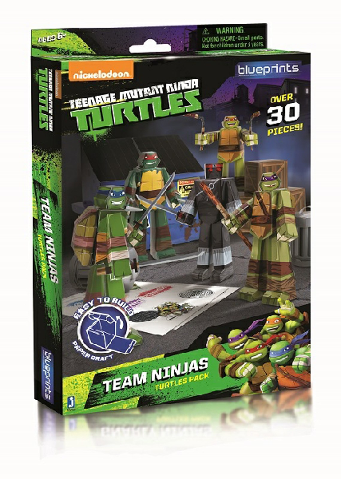 Image of Nickelodeon Teenage Mutant Ninja Turtles Paper Craft - Team Ninjas Turtle Pack