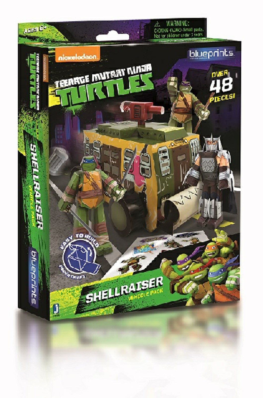 Image of Nickelodeon Teenage Mutant Ninja Turtles Paper Craft - Shellraiser Vehicle Pack