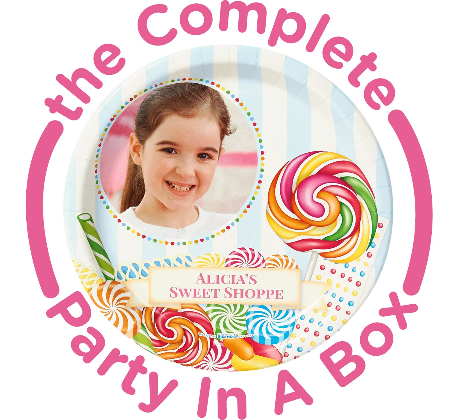 Candy Shoppe Personalized Party in a Box - Deluxe with Favors - 8 Guests