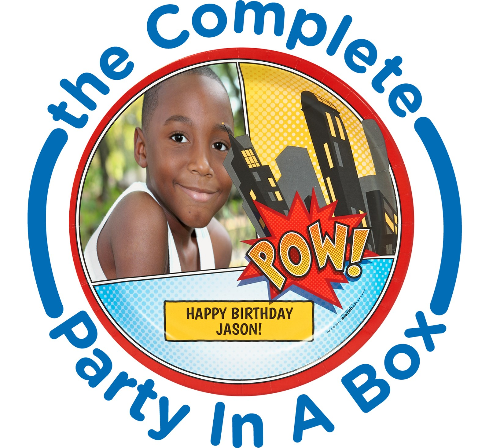 Image of Superhero Comics Personalized Party in a Box - Basic - 16 Guests