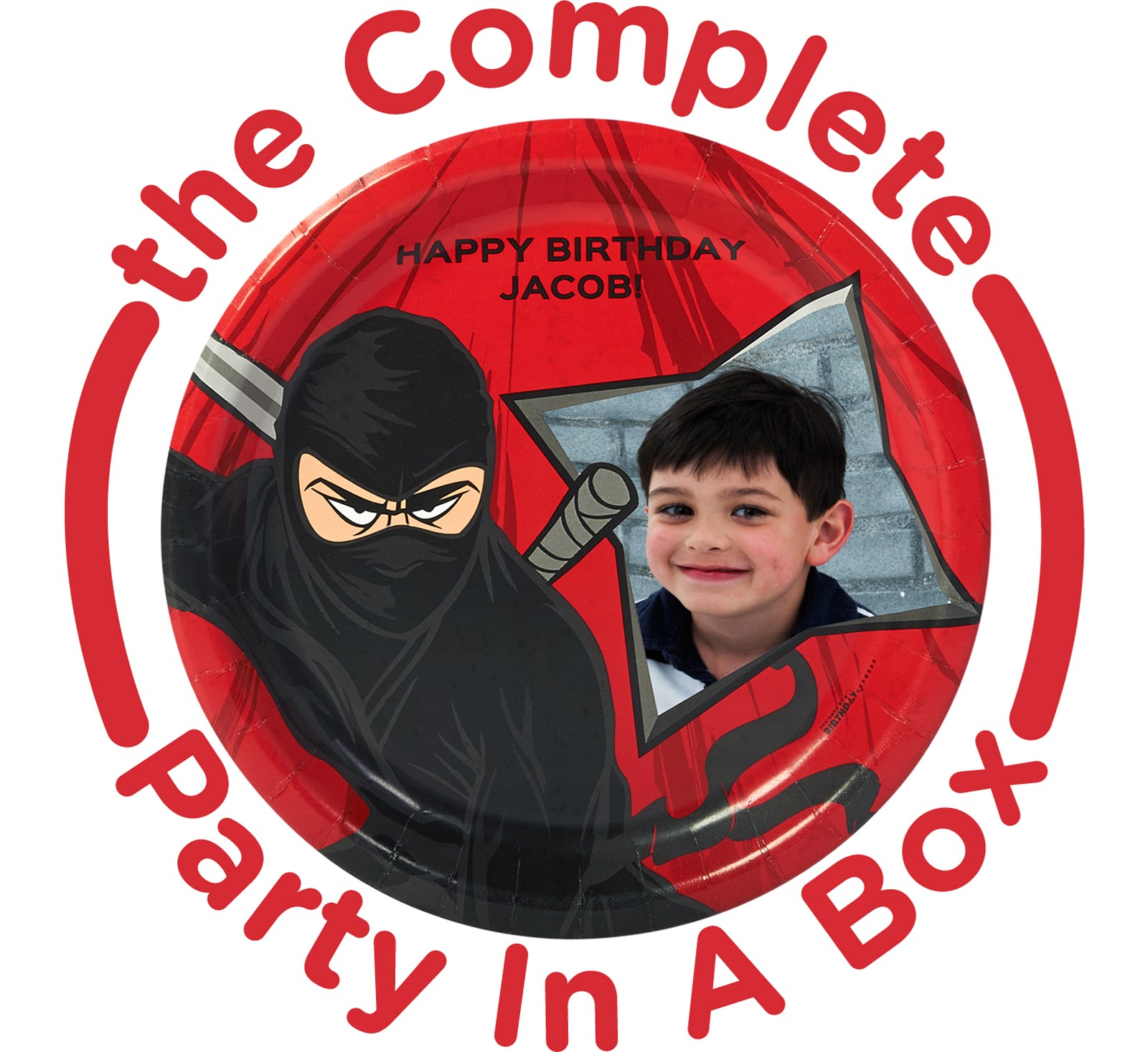 Image of Ninja Warrior Personalized Party in a Box - Basic - 16 Guests