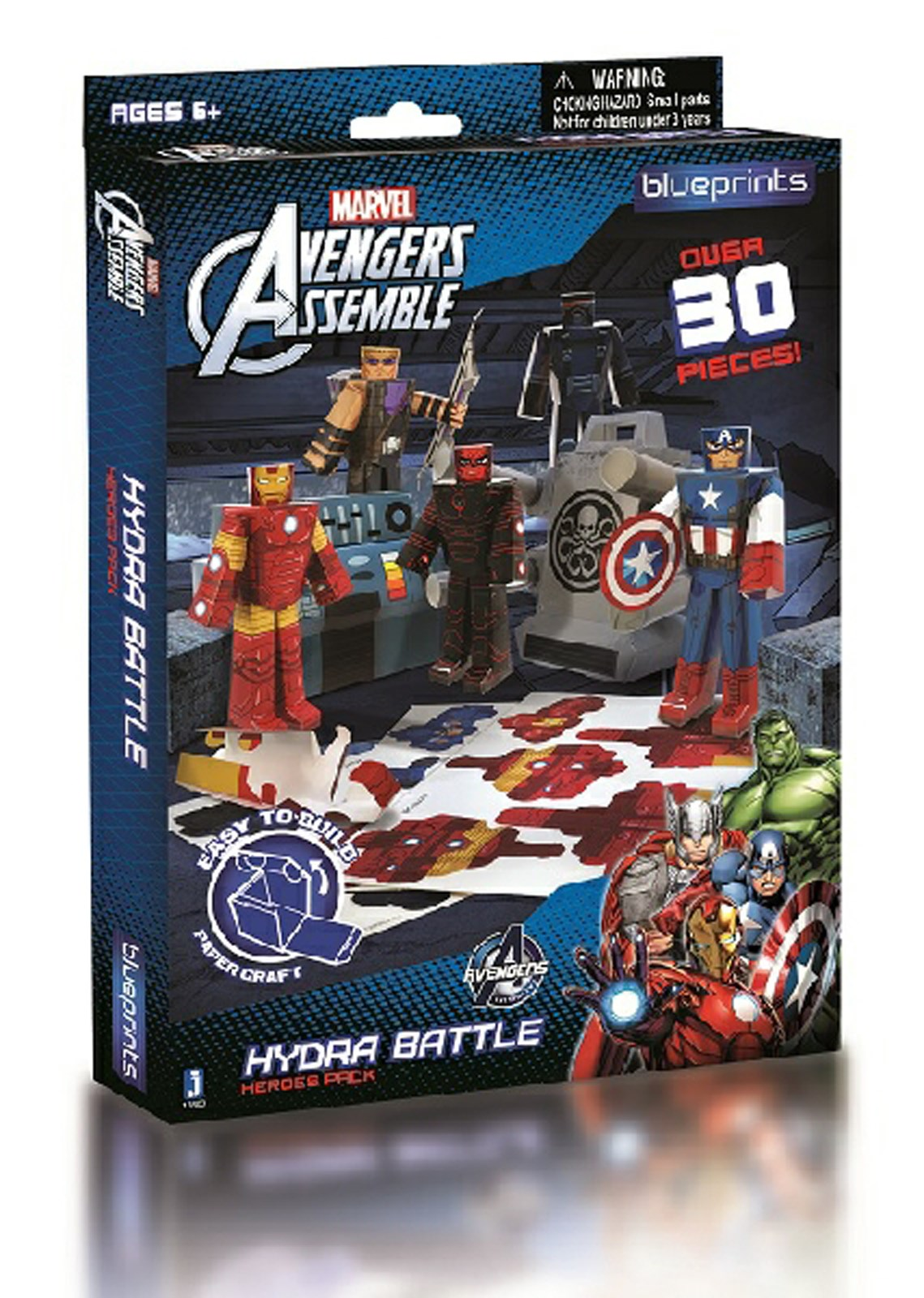 Marvel Paper Craft Team Heroes Avengers Pack