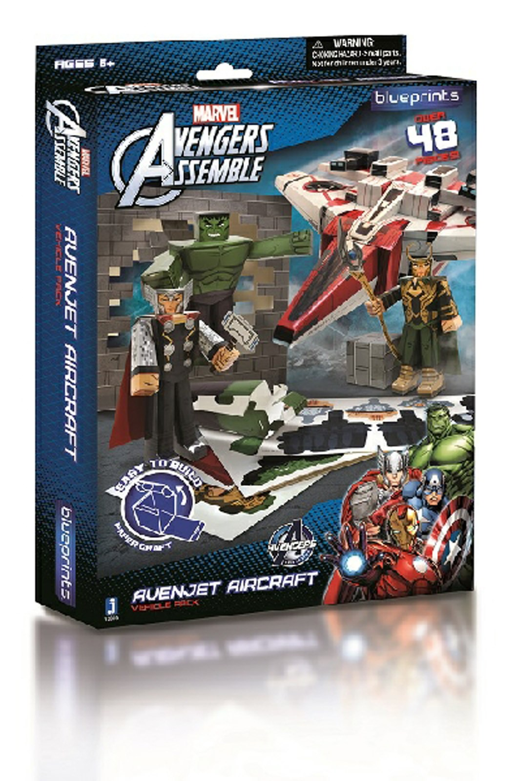 Marvel Paper Craft Avenjet Aircraft Pack