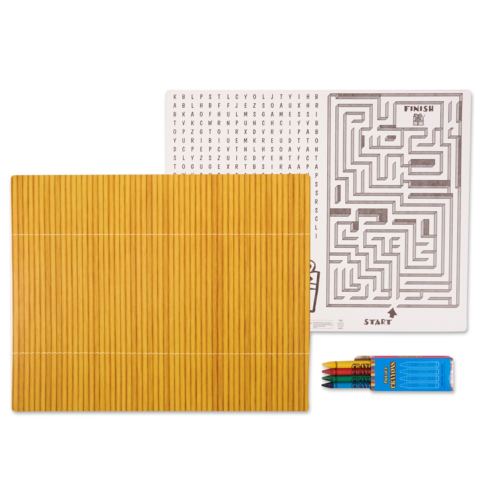 Image of Bamboo Activity Placemat Kit for 4