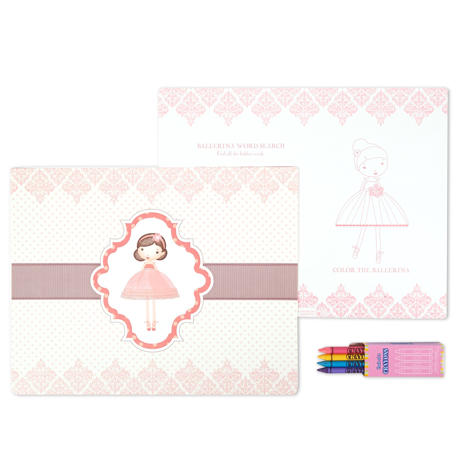 Image of Ballerina Tutu Activity Placemat Kit for 4