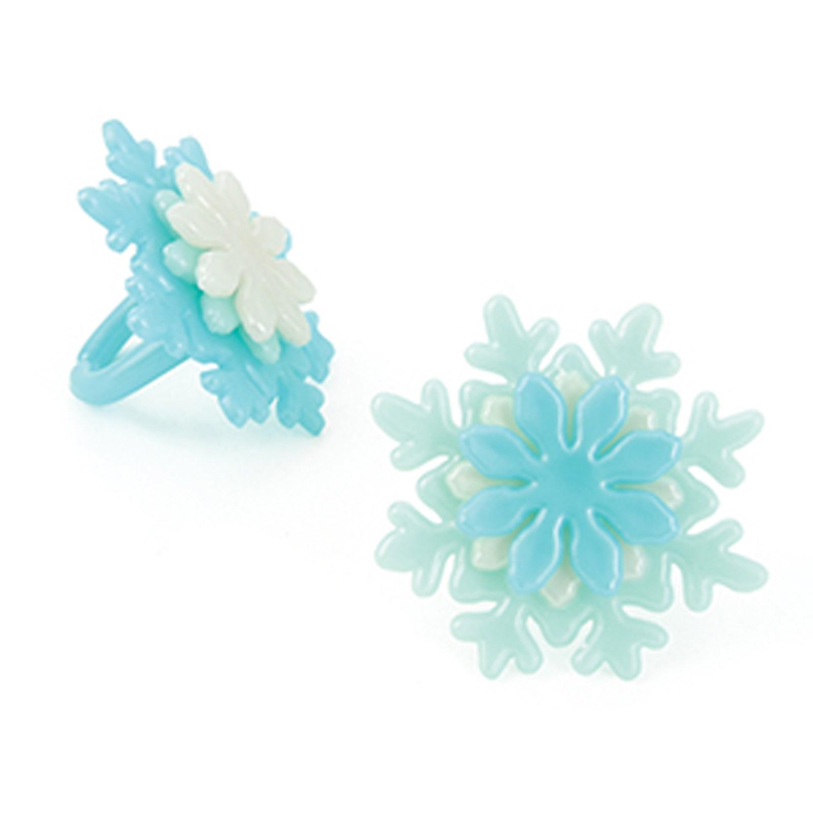 Image of Iridescent Snowflake Rings (12)