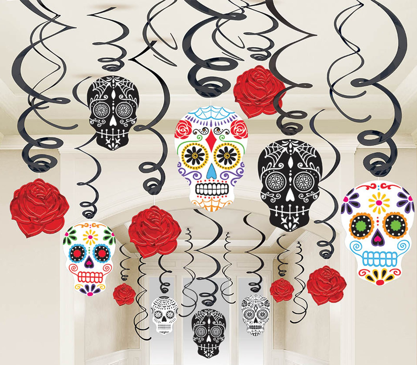 Day of the Dead Swirl Decorations (5)