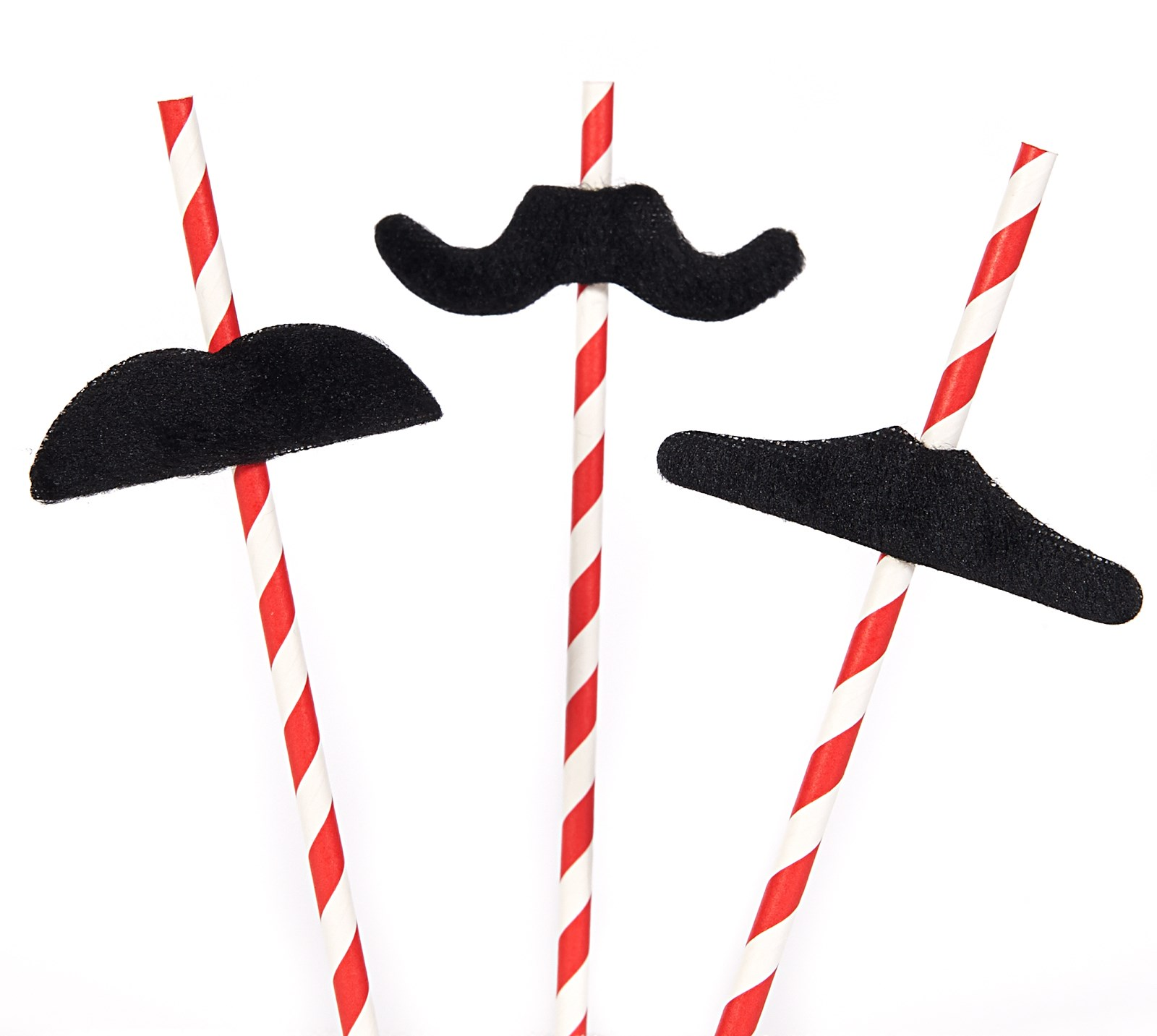D.I.Y. Super Mario Party Mustache Straws - D.I.Y. Kit Materials - 1 Guests