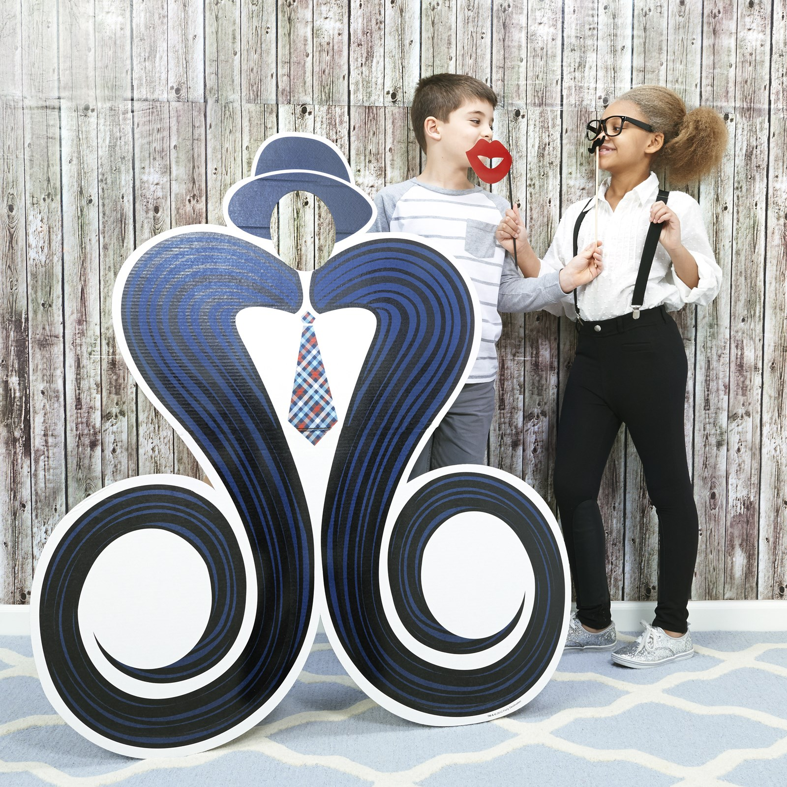 Mustache - Photo Booth Kit - Photo Booth Materials - 1 Guests