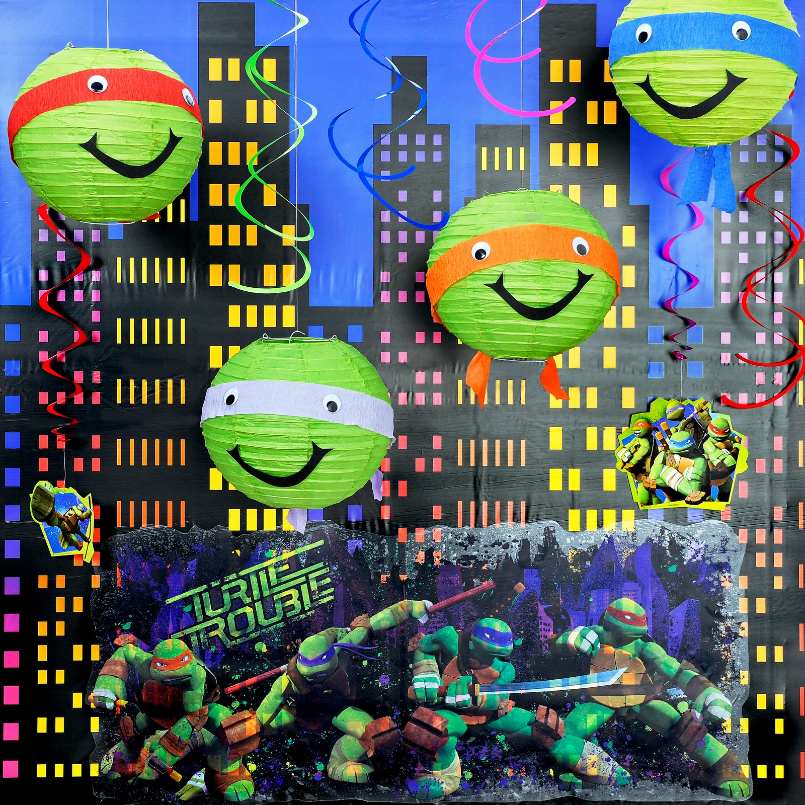 D.I.Y. Teenage Mutant Ninja Turtles Room Decor - D.I.Y. Kit Materials - 1 Guests